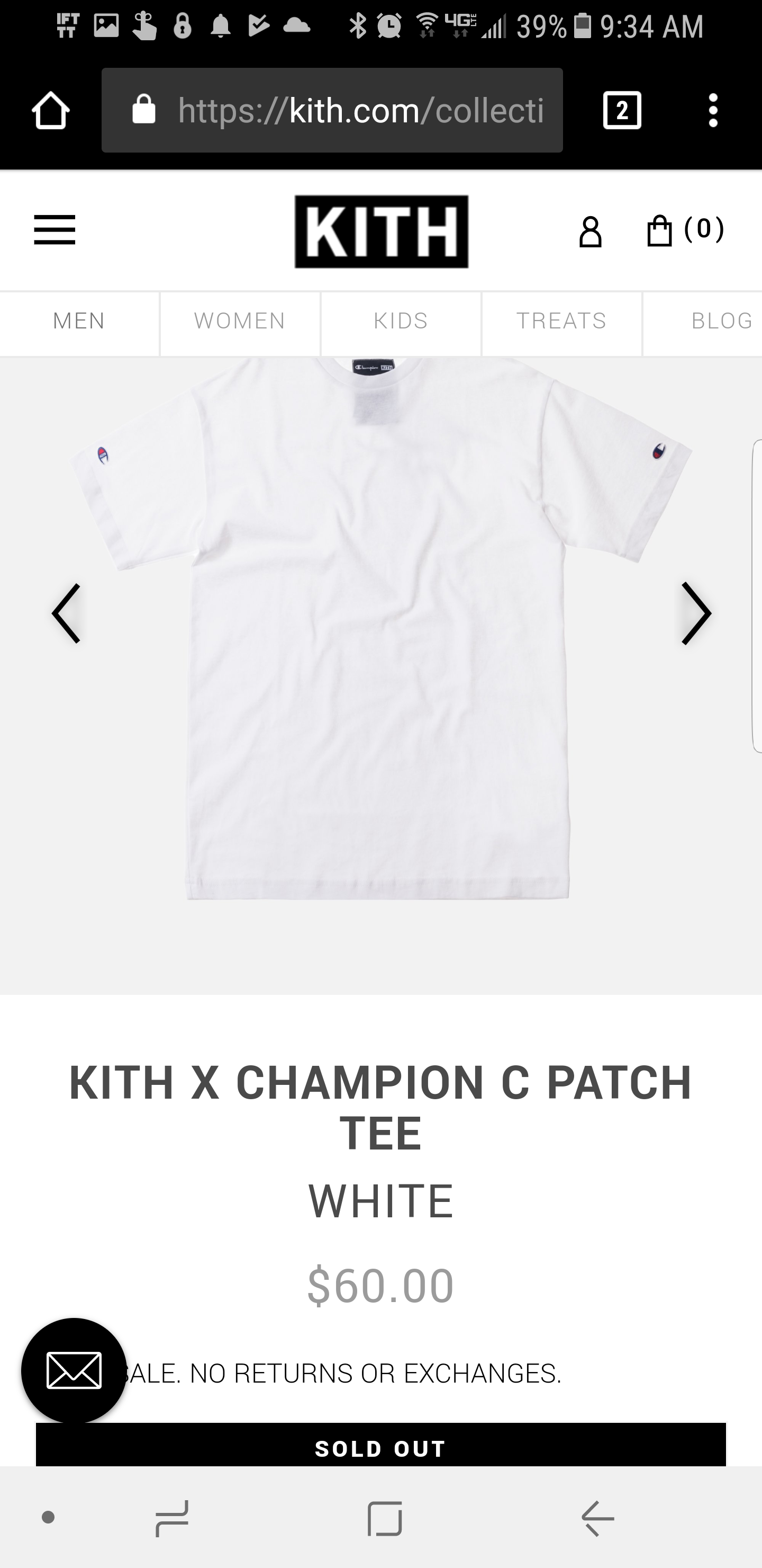 a873aa47a7b5 Kith Nyc Kith X Champion C Patch Tee White