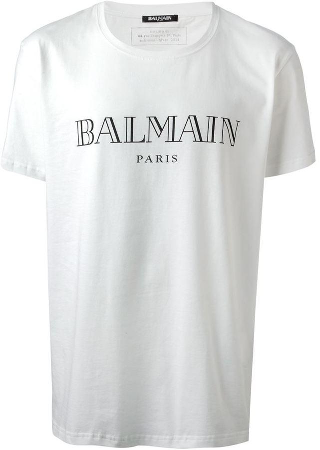t shirt balmain blanc