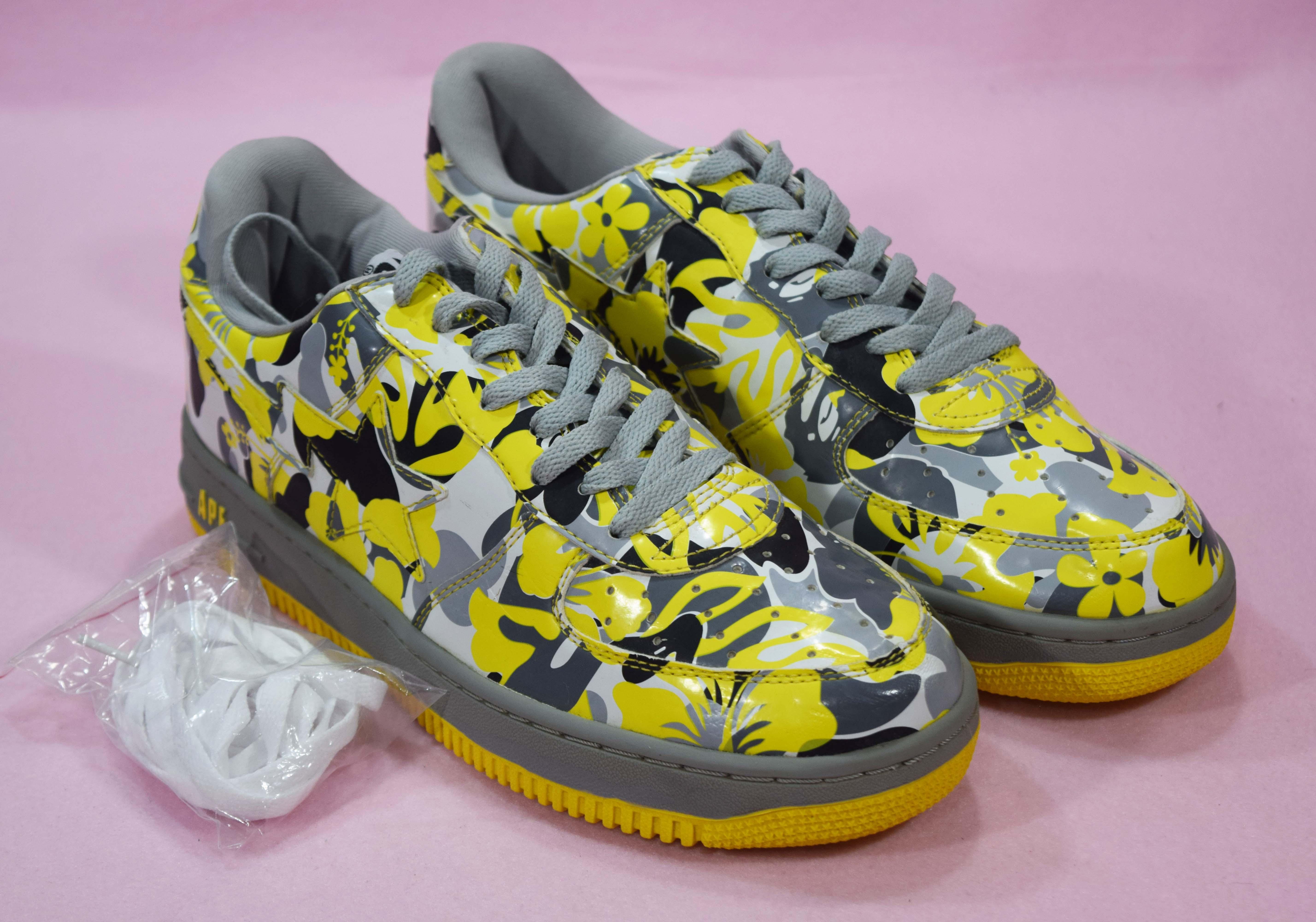 f7c24e4203685 Bape Bape A Bathing Ape Bapesta Sneaker Yellow Resort Flower Camo ...