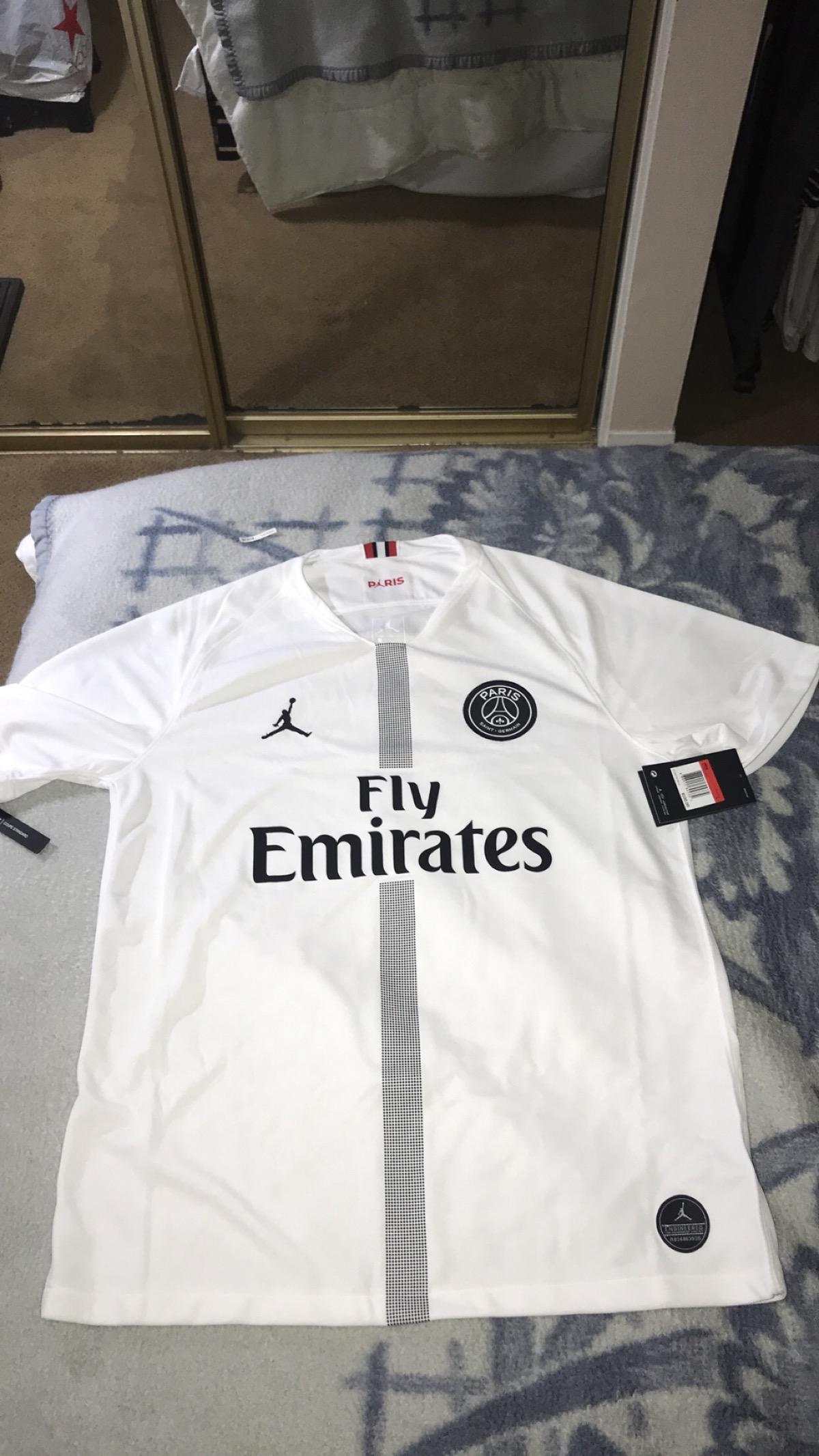 74673e3ea817 Nike Nike Jordan Brand Psg Home White Jersey Neymar Jr. Messi ...