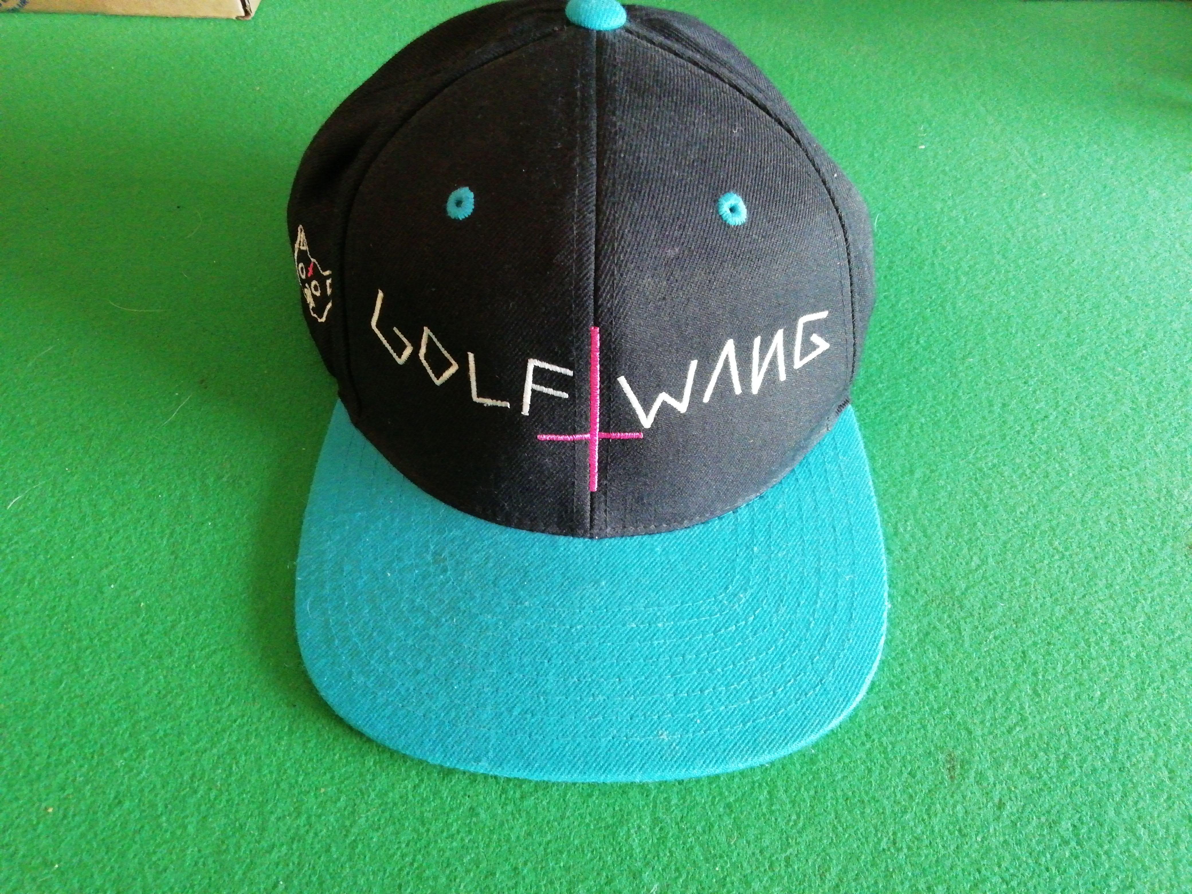 ec72522c76292 Golf Wang Golf Wang Snapback Cap Green Black Blue Cross Hat Odd ...