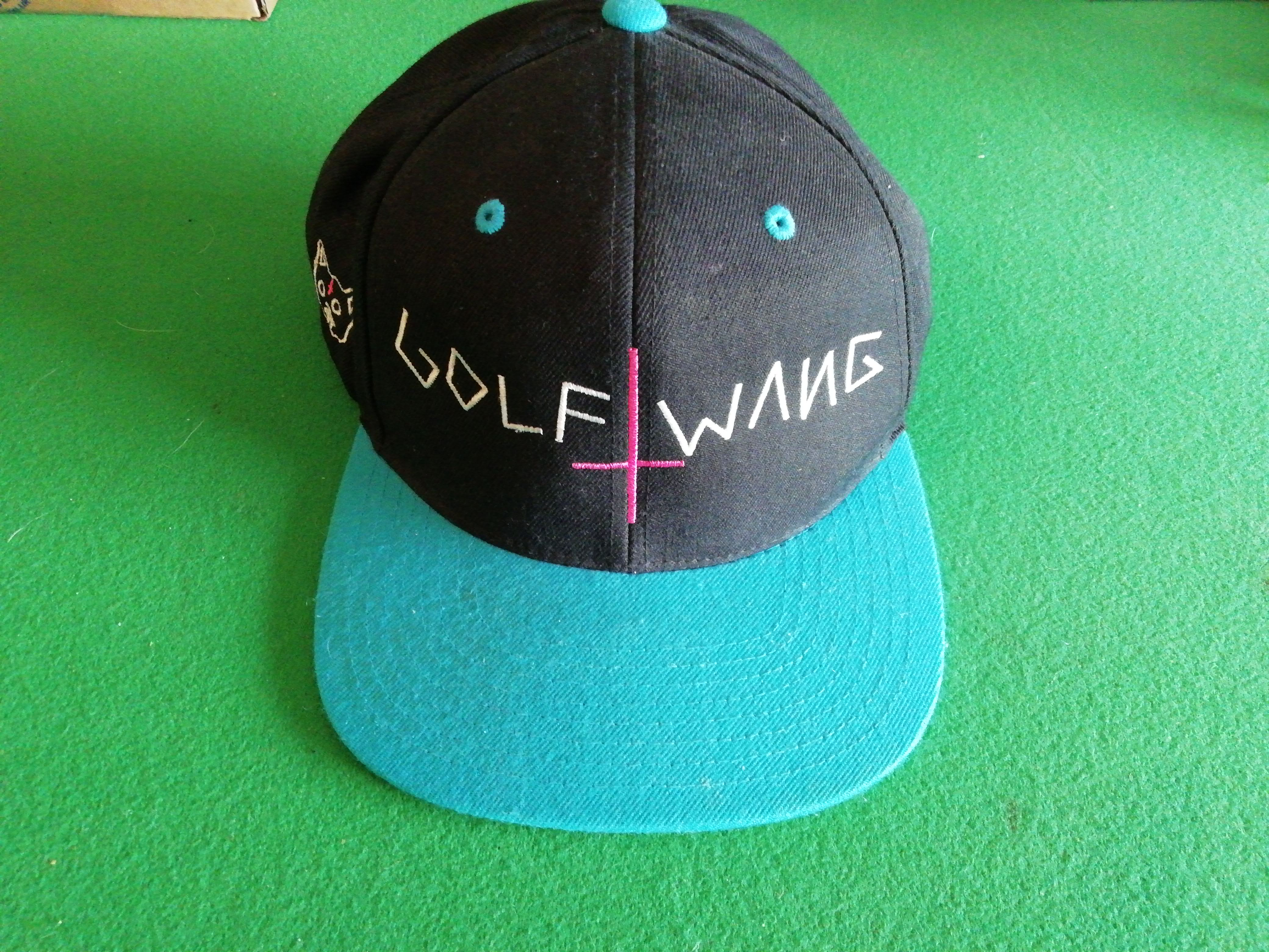 1b398a5b9ceeb Golf Wang ×. Golf Wang Snapback Cap Green Black Blue Cross Hat Odd ...