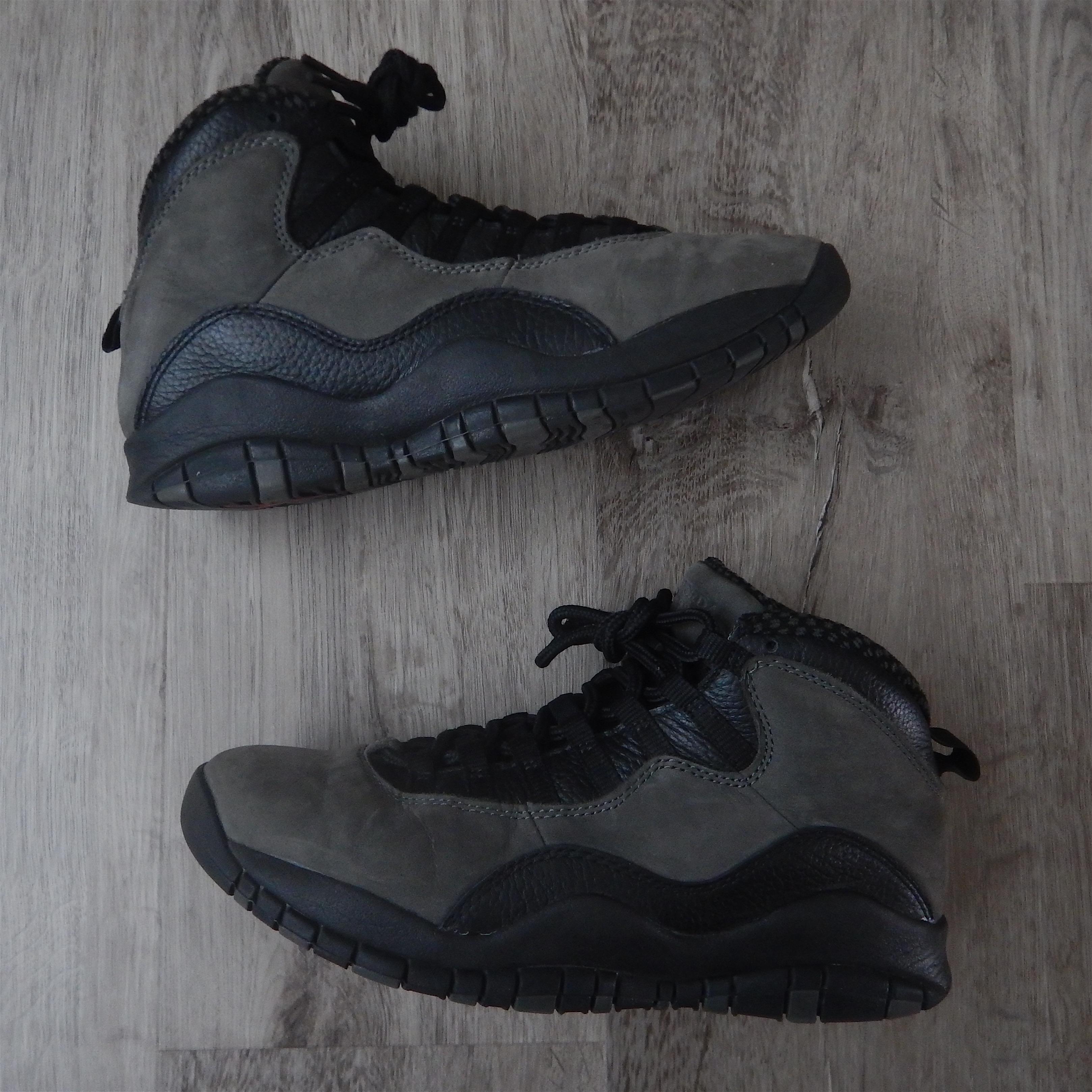 release date: e1ca7 2985c Air Jordan 10 Dark Shadow Black/Gray Retro (2018) 310805-002 Sz 8