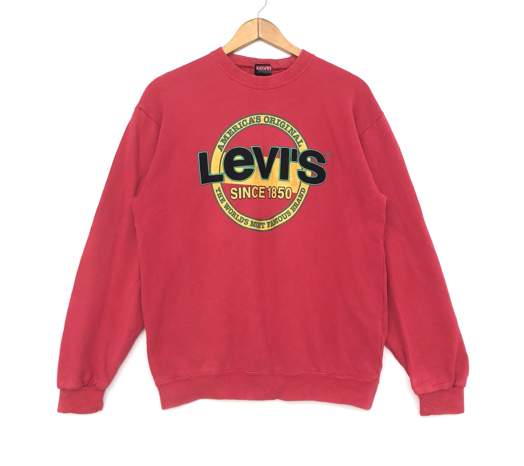 d7a70d7f629 Vintage Levis Sweatshirt Big Logo Sweater Jumper Medium Size Red Colour  Pullover Jacket Shirt Hoodie Sweat Sweater Vintage 90's