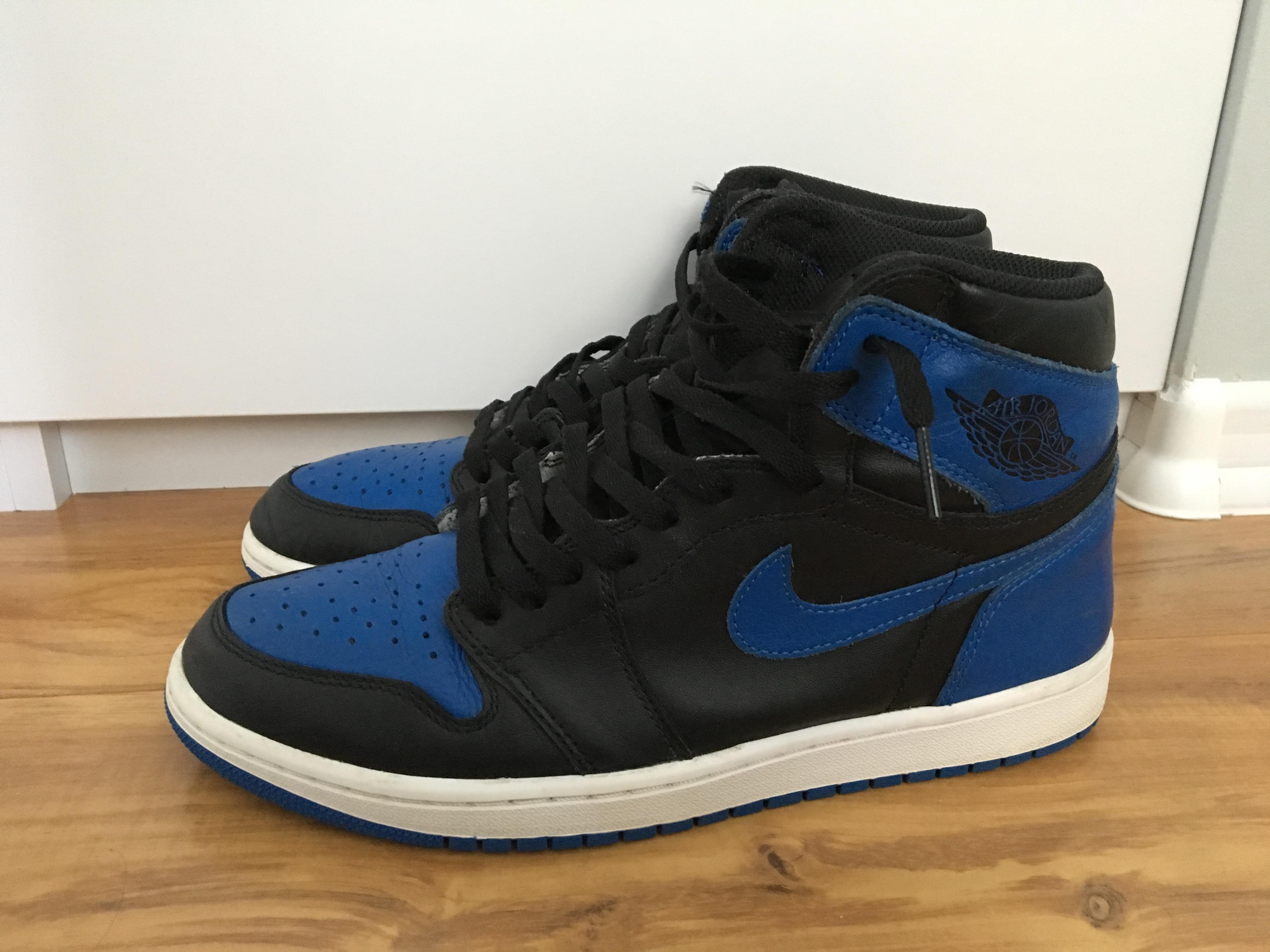 cdf280ced4b Jordan Brand Nike Air Jordan 1 Retro High Og Royal Blue Black 555088 ...