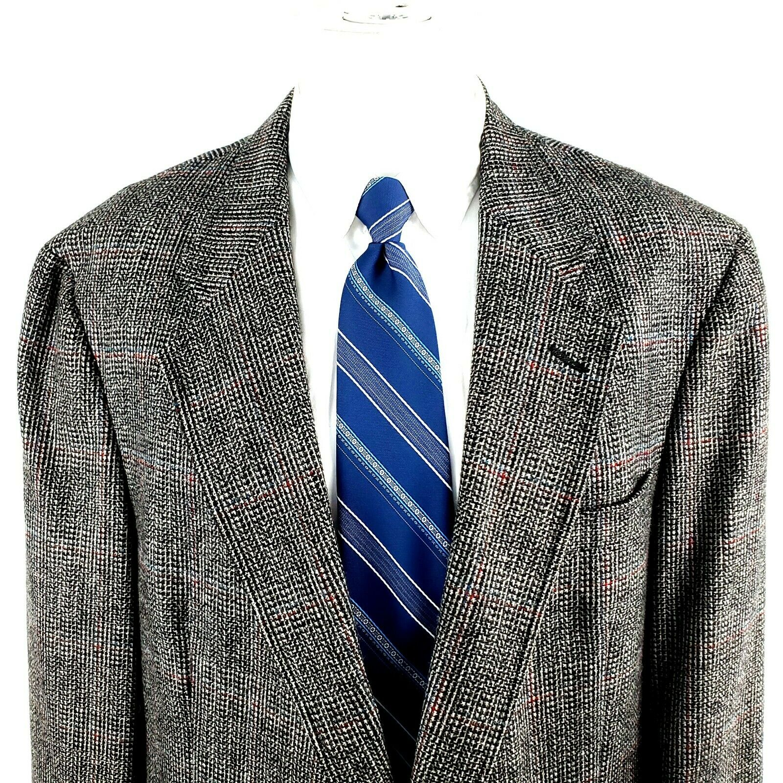Austin Reed Austin Reed 44l 2 Button Tweed Check Wool Blazer Grailed