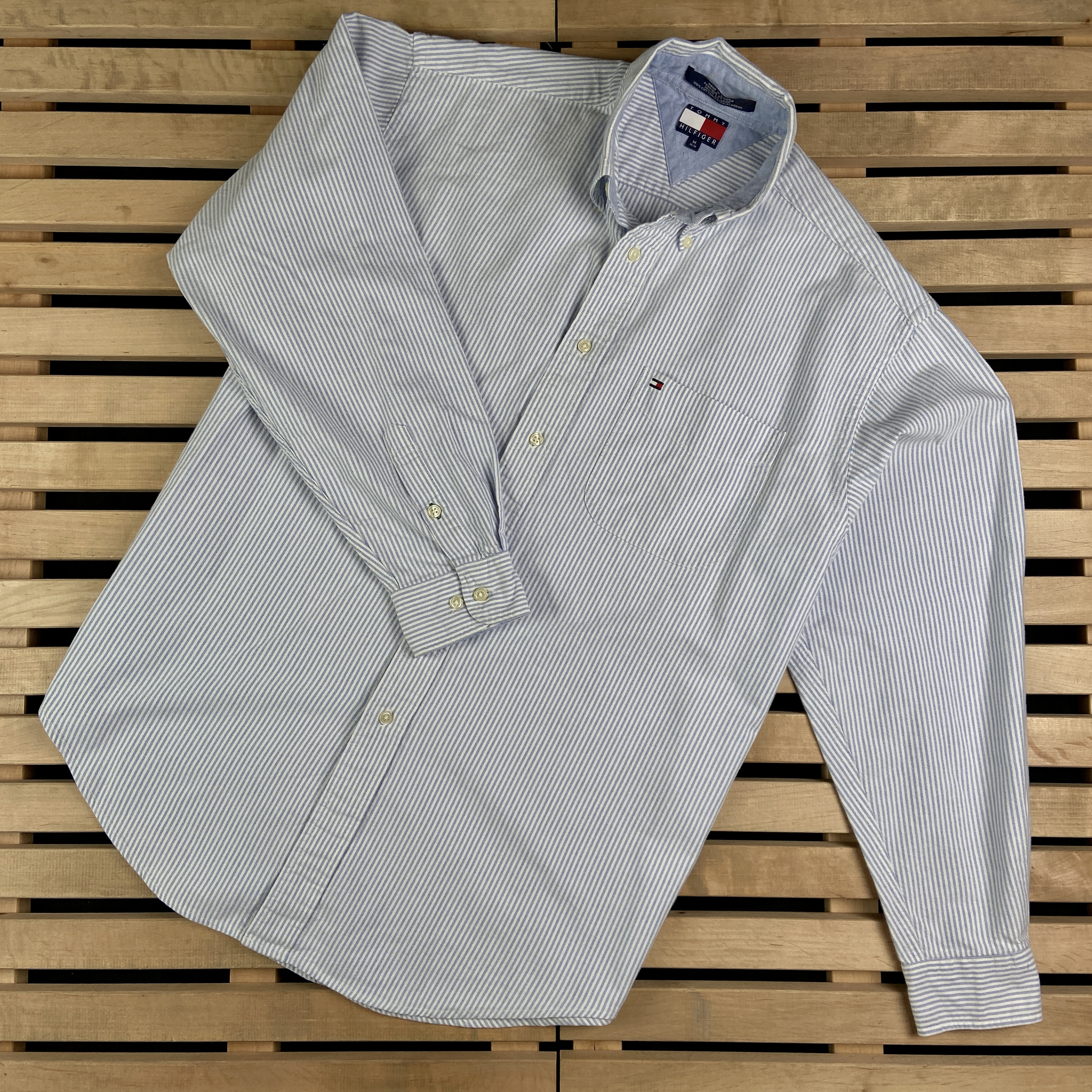 Vintage flannel lined Tommy Hilfiger button up size large
