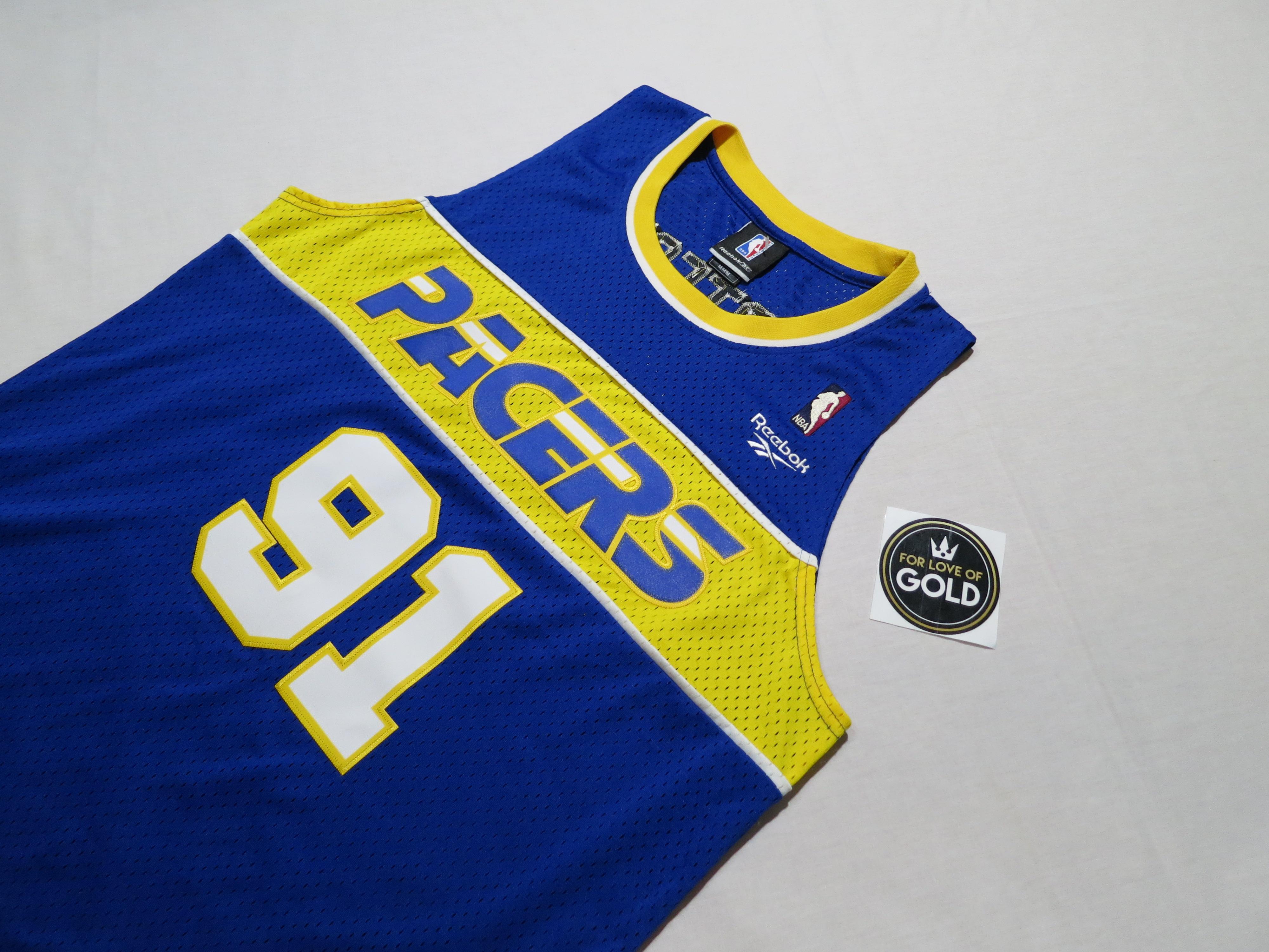 meet 57caf 3e8e3 Vintage Indiana Pacers Ron Artest Hardwood Classics Reebok basketball jersey
