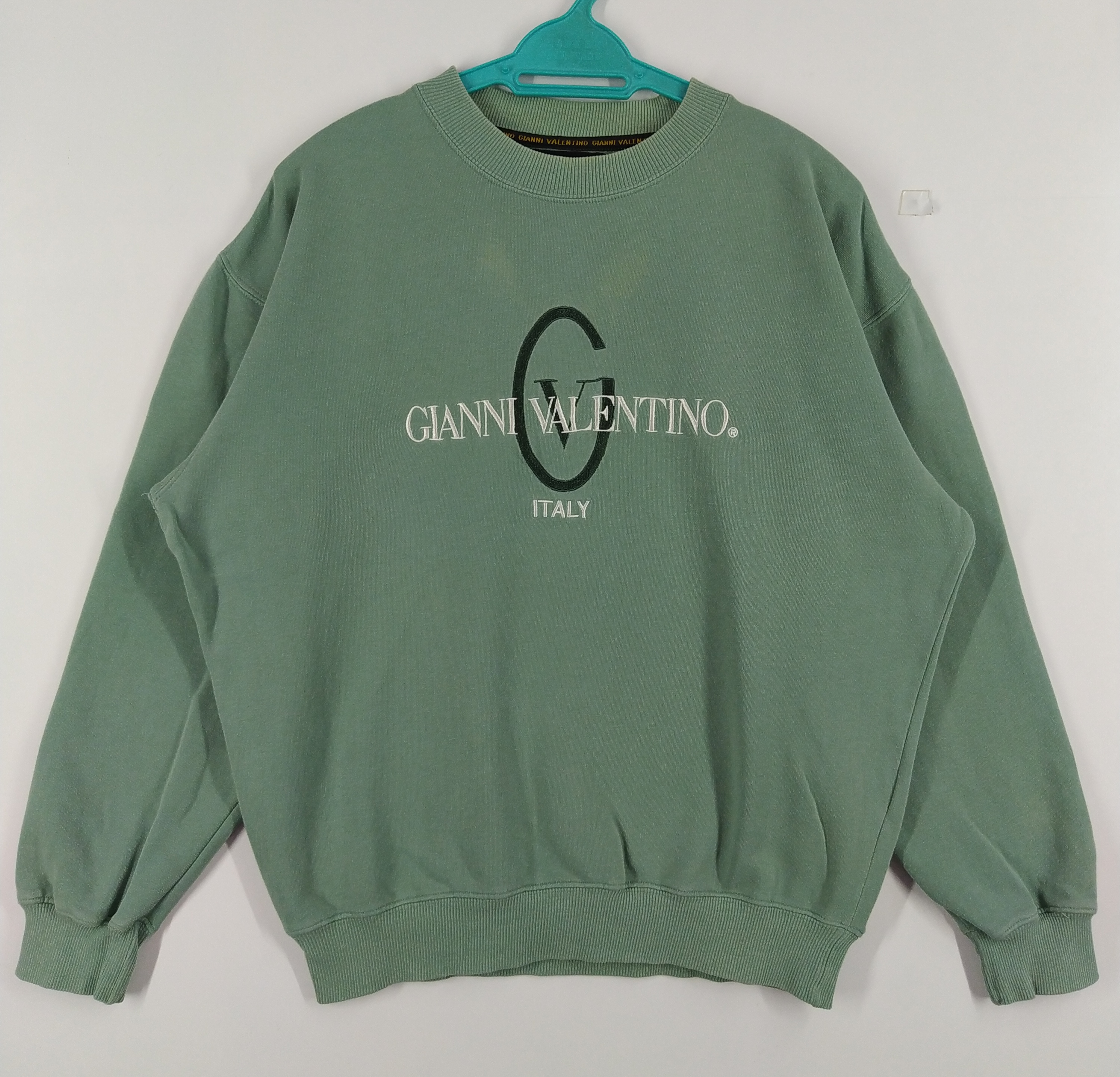 Vintage Gianni Valentino spellout embroidered green color size L