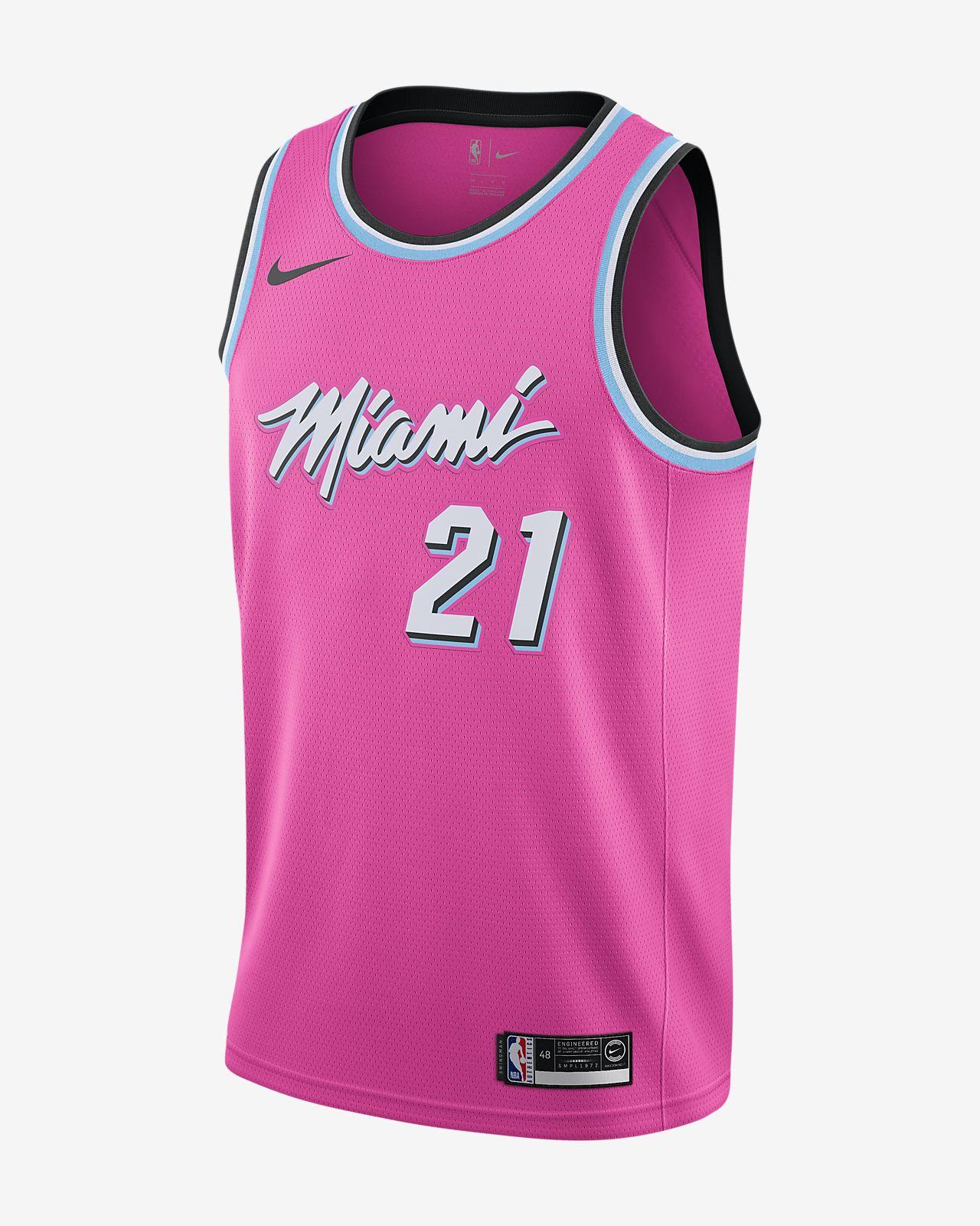 online store 450a0 94f88 Nike Dwyane Wade Miami Heat Earned City Swingman Jersey Size Large L