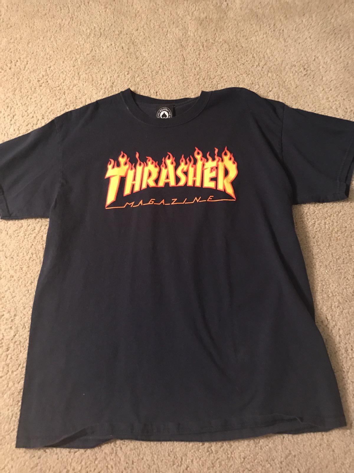 486fbf3e67b9 Thrasher thrasher t shirt navy blue Size l - Short Sleeve T-Shirts ...