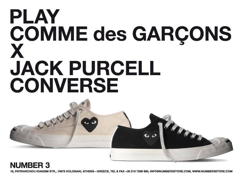 Comme Des Garcons Play CDG PLAY x Converse Jack Purcell Size 8 - Low-Top  Sneakers for Sale - Grailed 8348e9432
