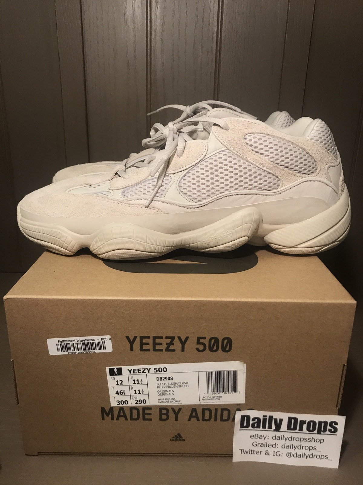 new concept 54724 81a37 Yeezy Boost 500 Mud Rat Blush
