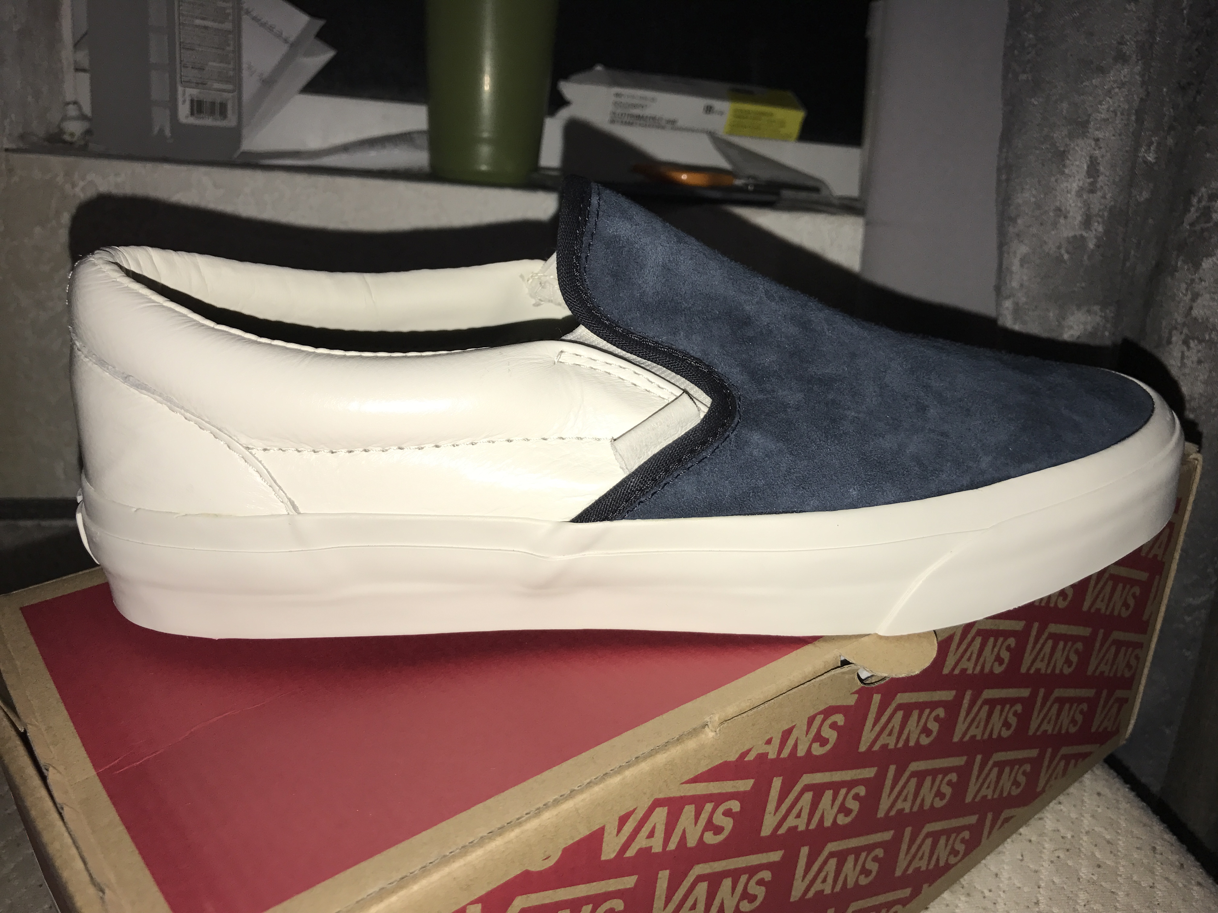 c7cd9c1802 Vans Vans California Slip-On Scotchgard Blue Graphite Suede ...