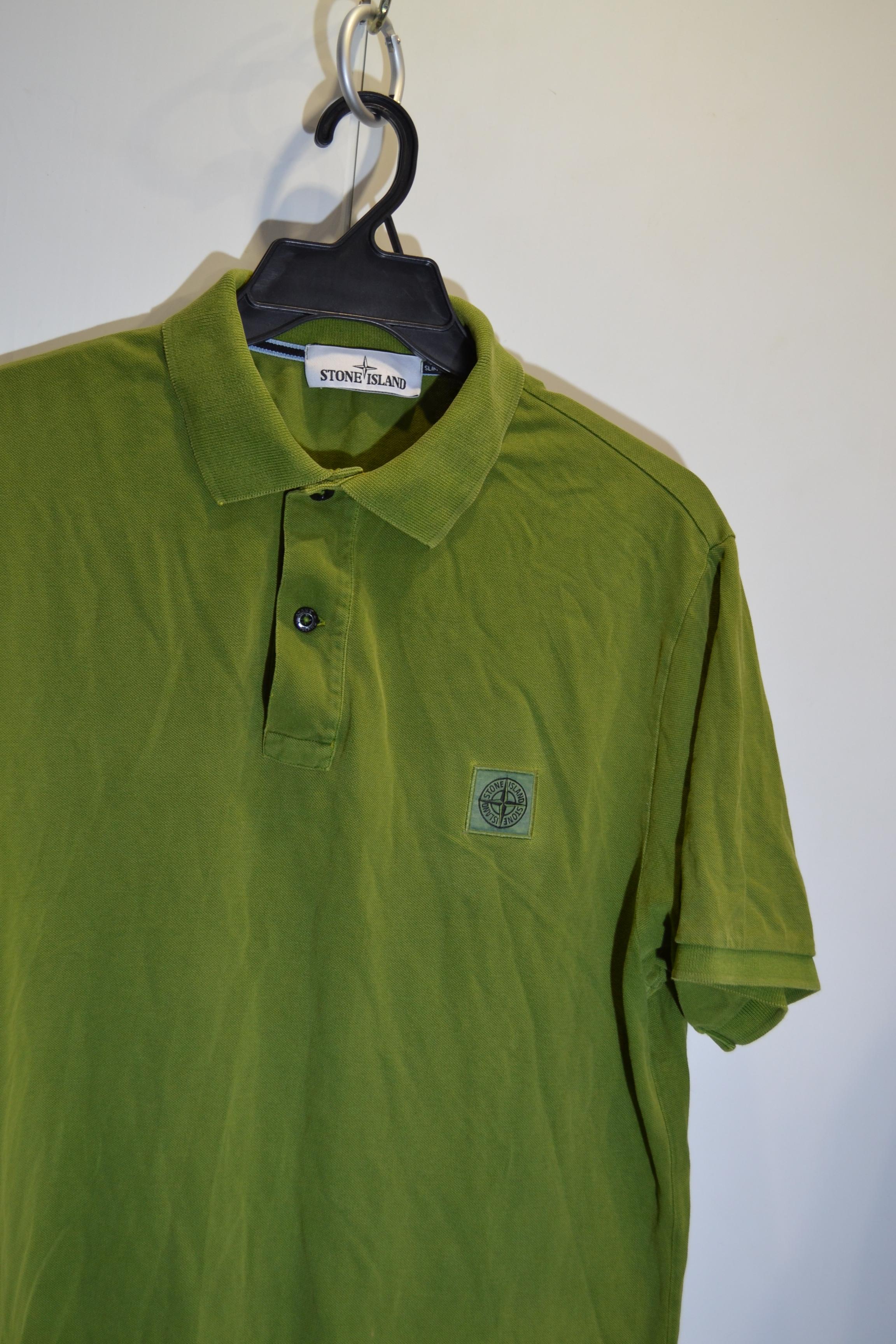 Stone Island Stone Island Xxl Size Slim Fit Acid Green Polo Shirt