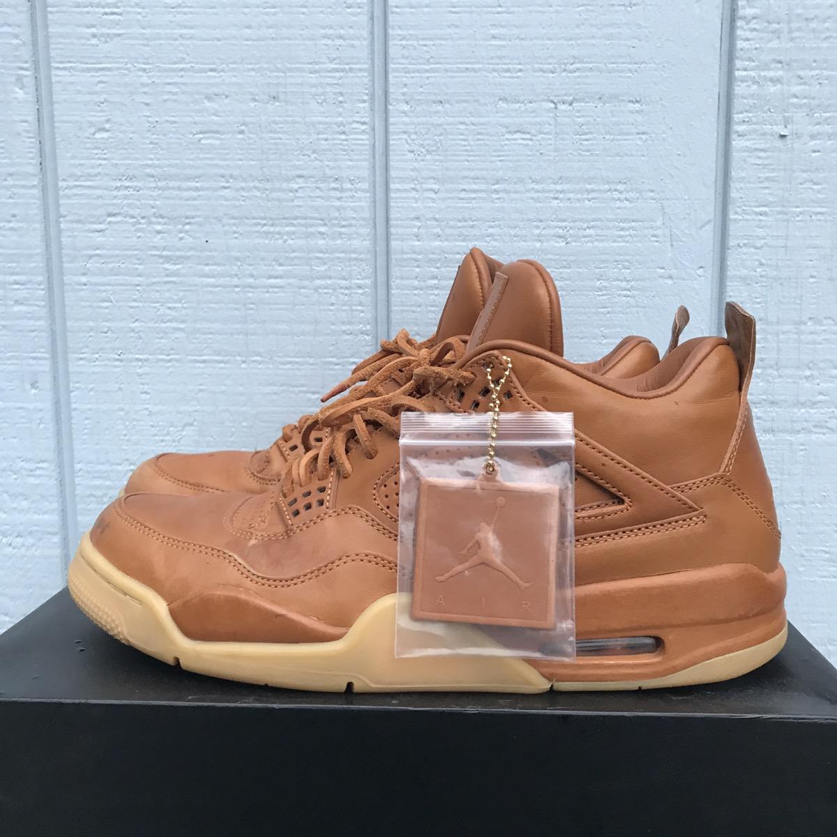 sports shoes 8c63c 2e309 Jordan Brand Nike Air Jordan 4 IV Retro Premium Wheat Ginger Gum Pinnacle  Size 11 - Low-Top Sneakers for Sale - Grailed