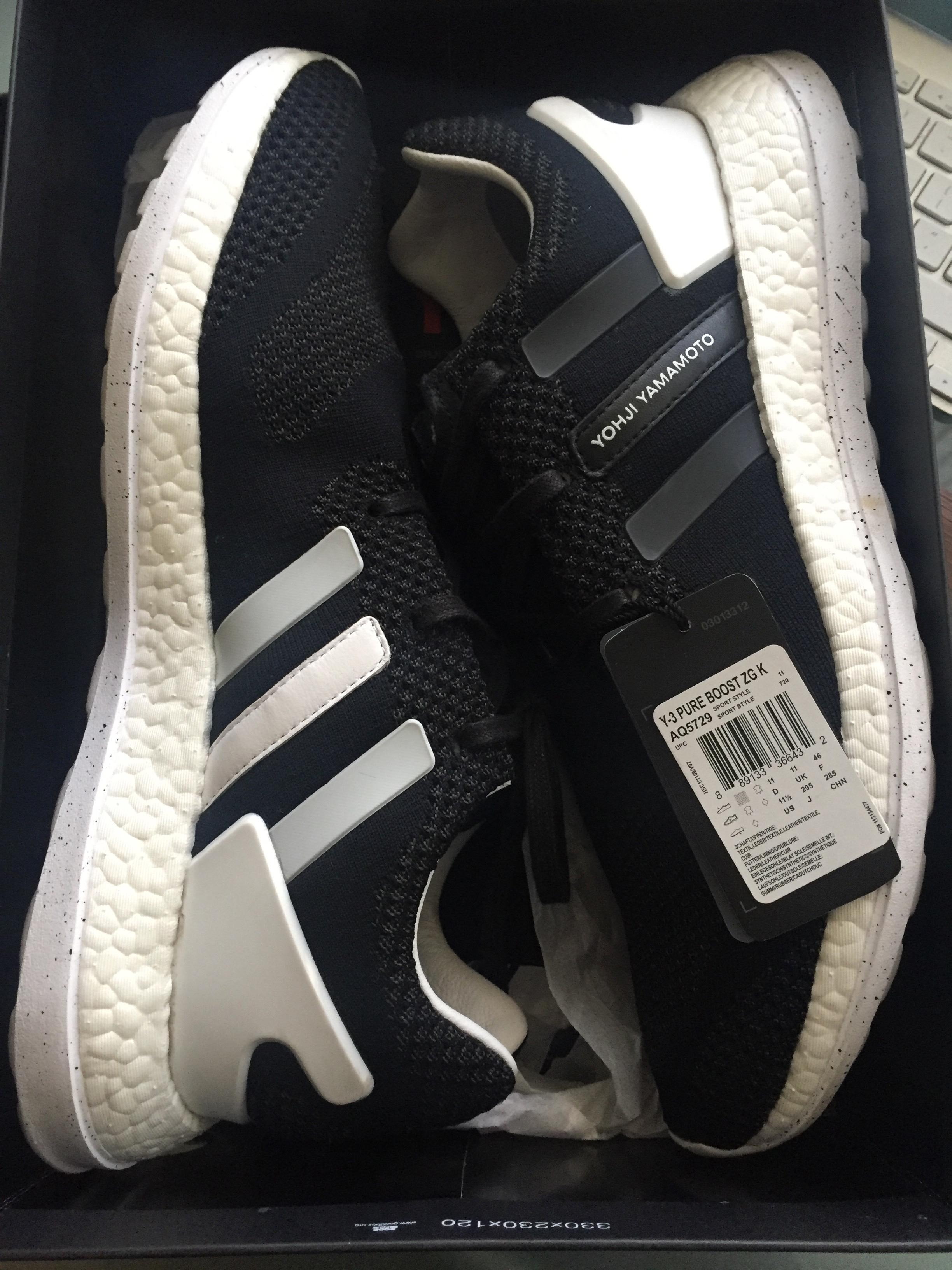 6e2e6868b058 Y-3 Adidas Y-3 Pure Boost Zg Knit Yohji Yamamoto 12 Core Black White ...