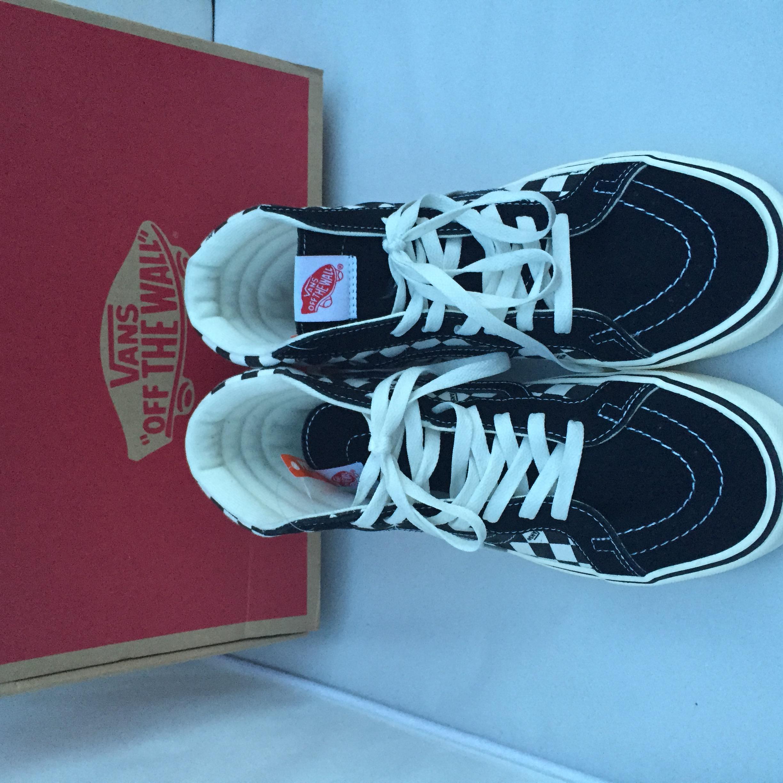 f864faf01b059b Vans Vans SK8 Hi Checkerboard Logo Ortholite Size 13 - Hi-Top Sneakers for  Sale - Grailed