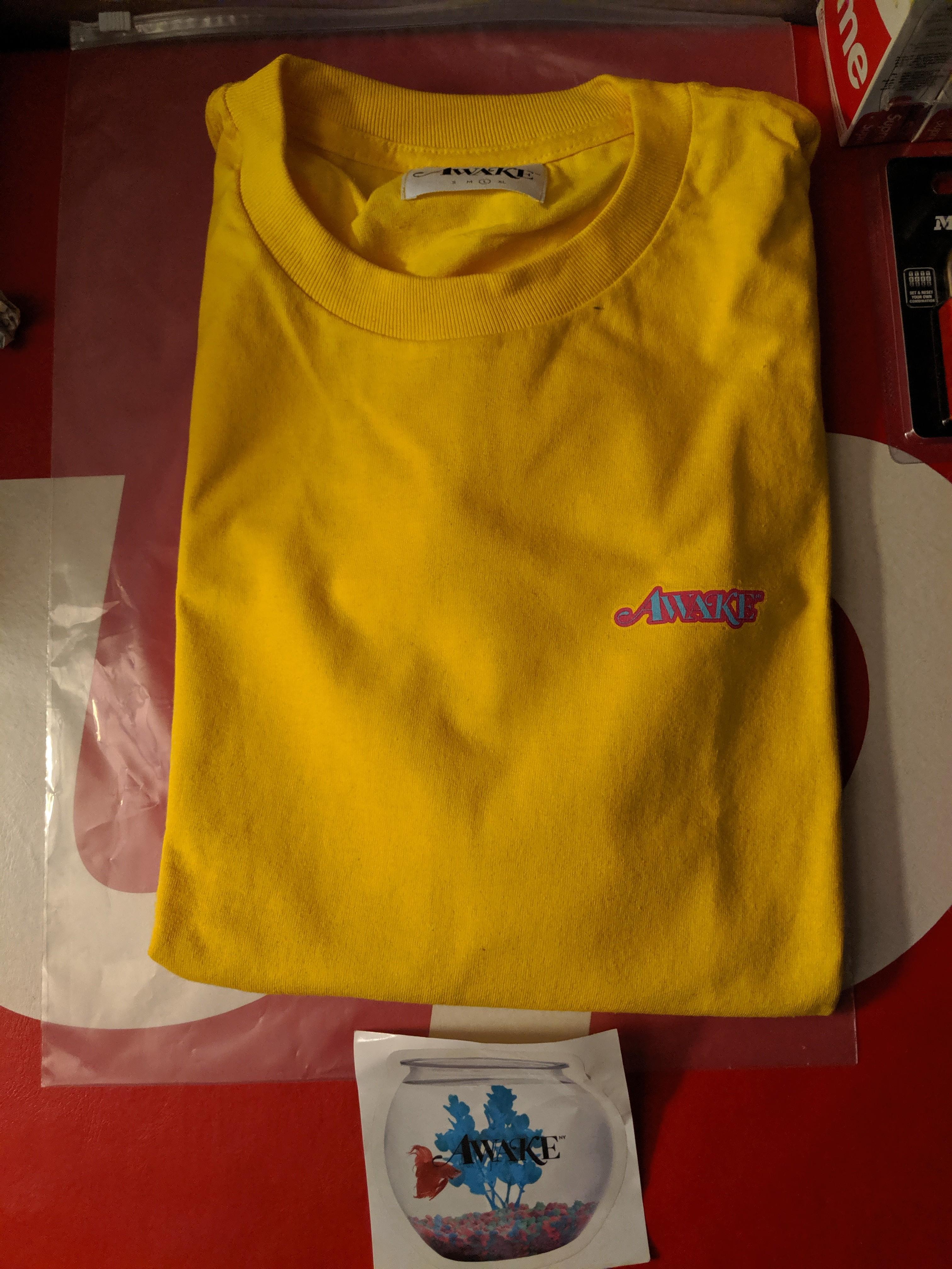d7da119bac98a Awake NY Fall 2018 L/S T-shirt Yellow Large