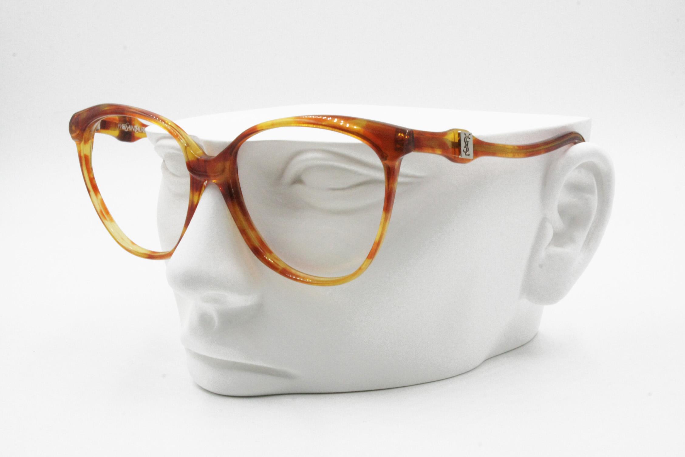 70f3aad7f6 Vintage Yves saint Laurent YSL vintage acetate glasses frame blondie e  brown caramel