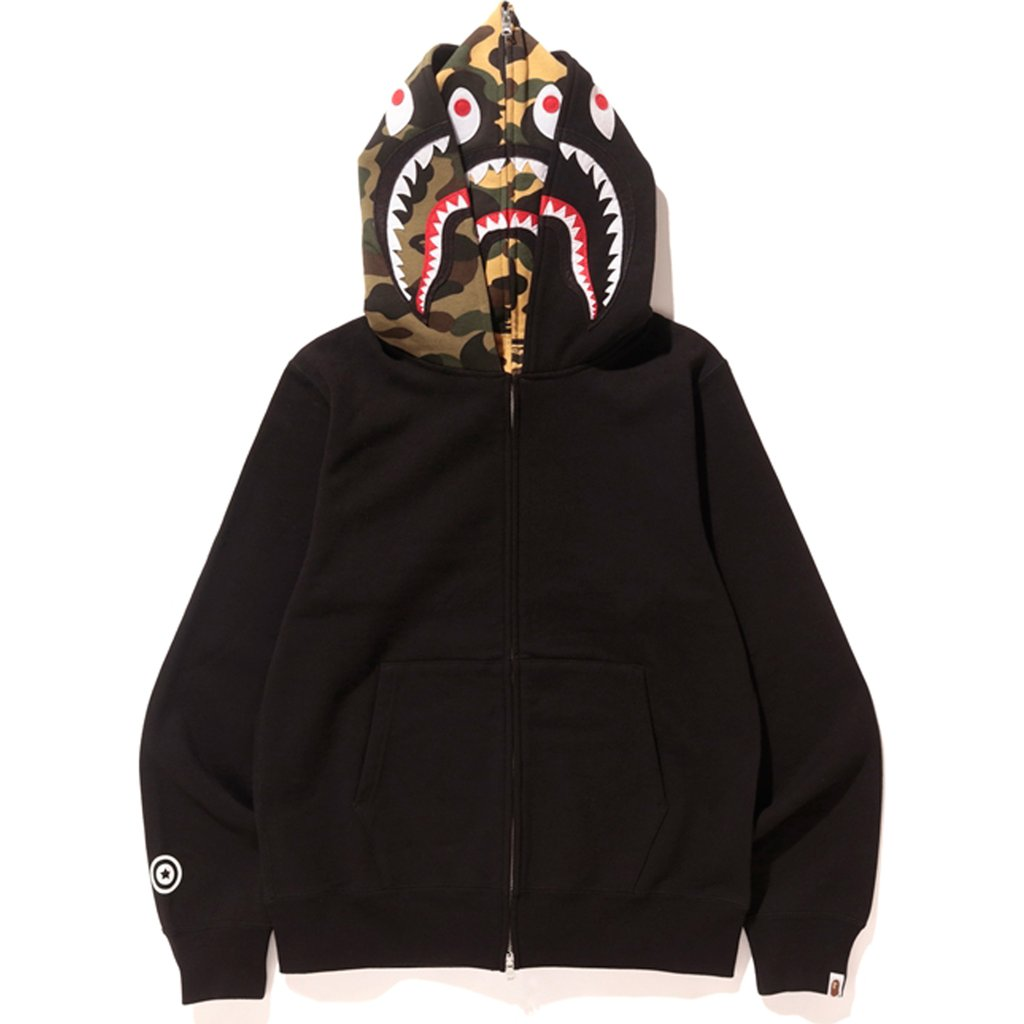 87c6272d027c Bape SHARK FULL ZIP DOUBLE HOODIE Size l - Sweatshirts   Hoodies for Sale -  Grailed