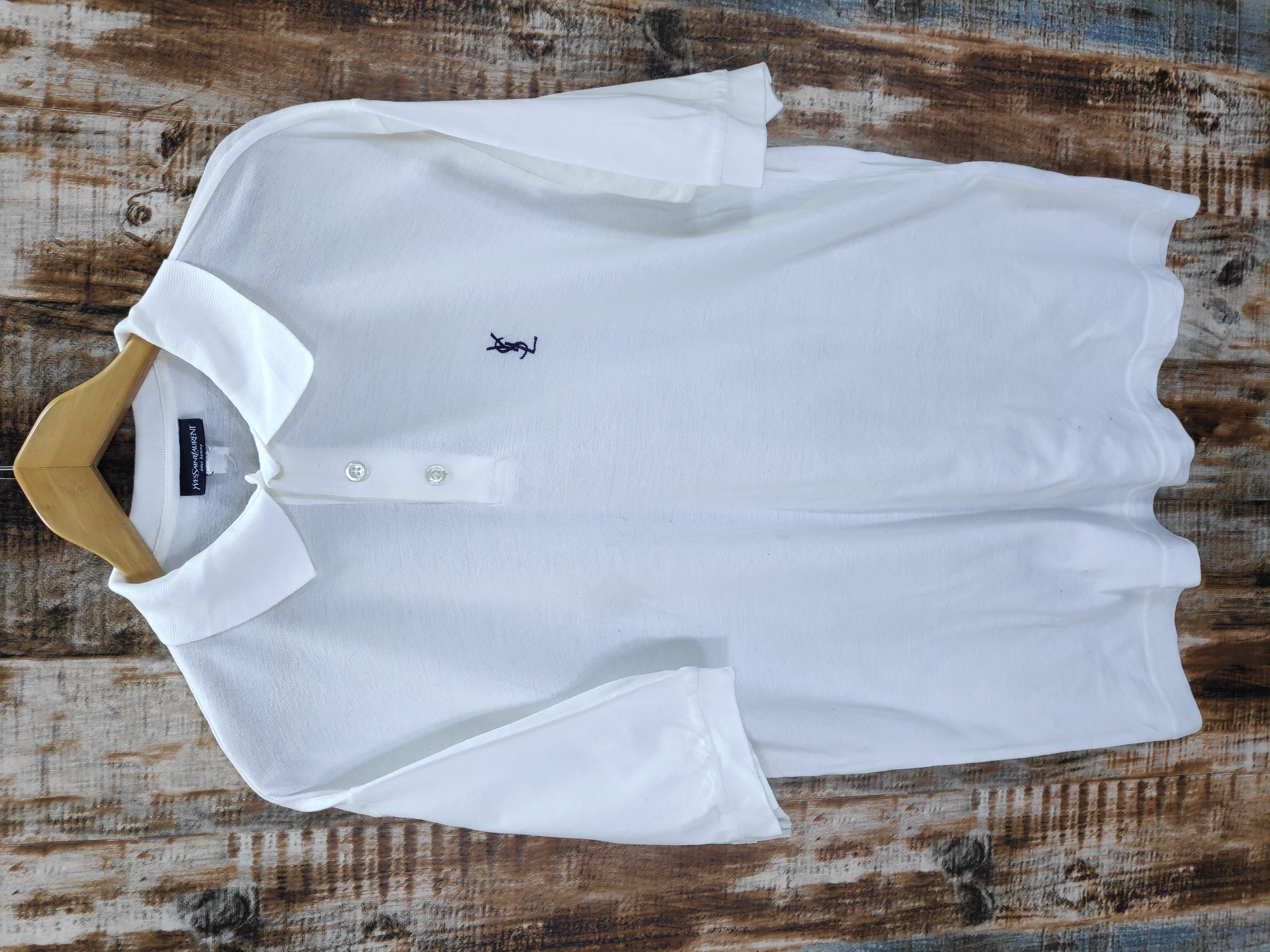 016e340dd78 Ysl Pour Homme Ysl Tricot 90s Ysl Yves Saint Laurent Polo Shirt Ysl White  Polo Shirt Ysl Italy | Grailed