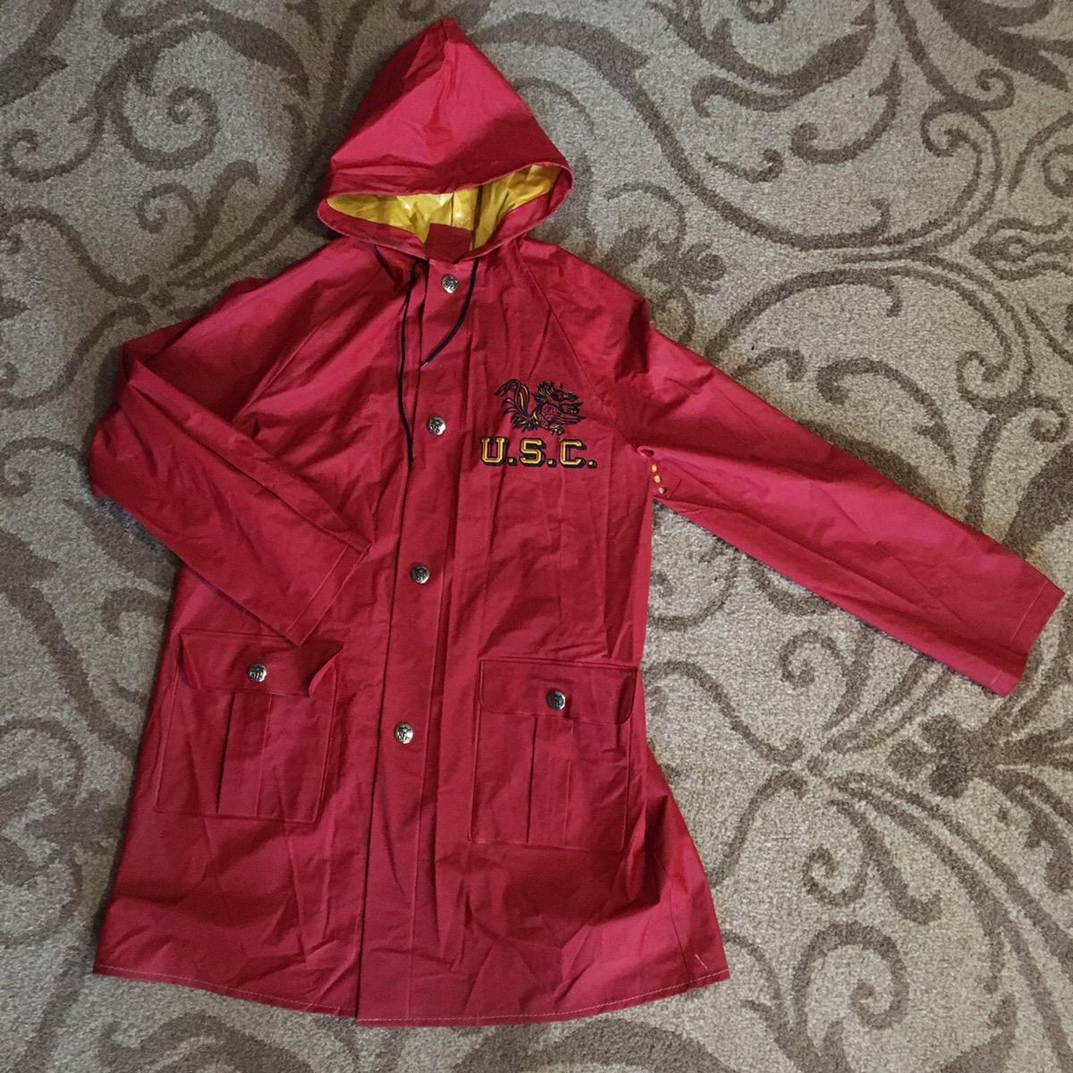 new product 7f582 31561 Vintage 70s University South Carolina Gamecocks Rain Jacket