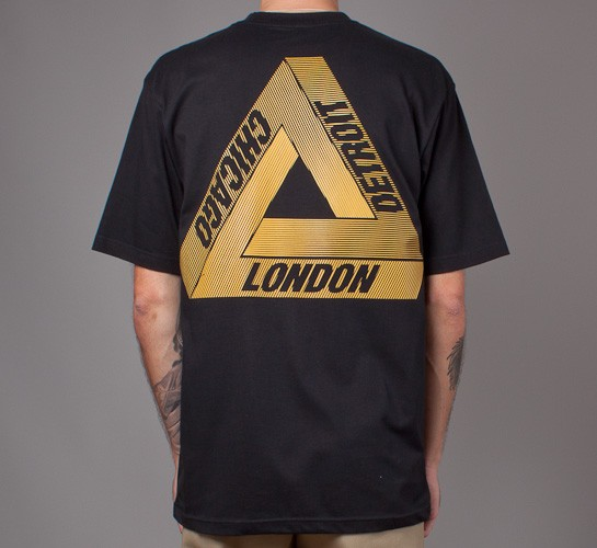 fb290370ff54 Palace Palace Wax Label T-Shirt in Black. Tri-Ferg L Size l - Short Sleeve T-Shirts  for Sale - Grailed