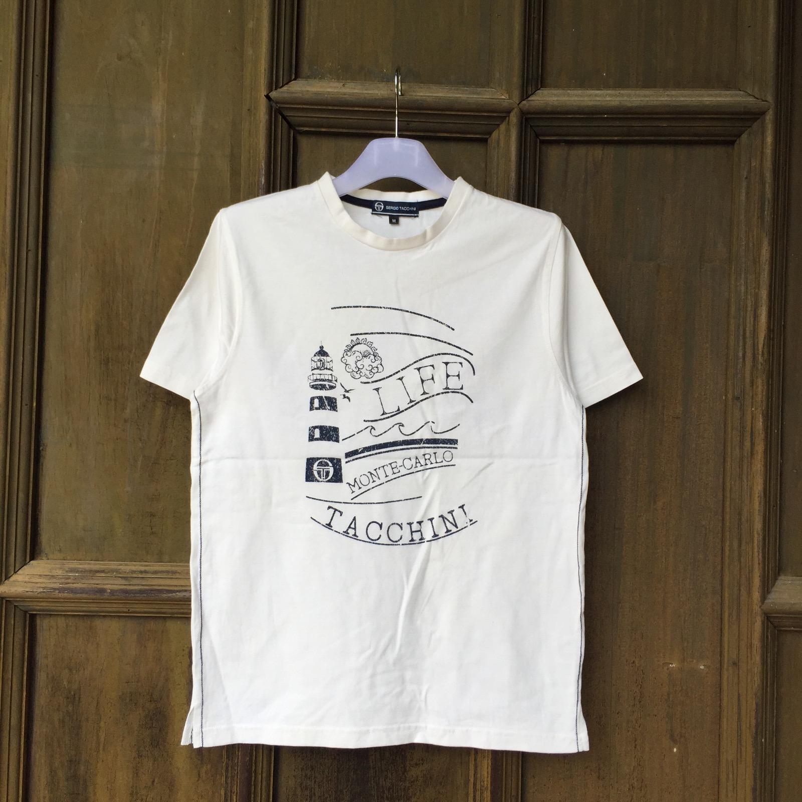 Designer Sergio Tacchini T Shirt Spell Out Big Design Monte Carlo Italy Brand Italian Fashion Designer Grailed