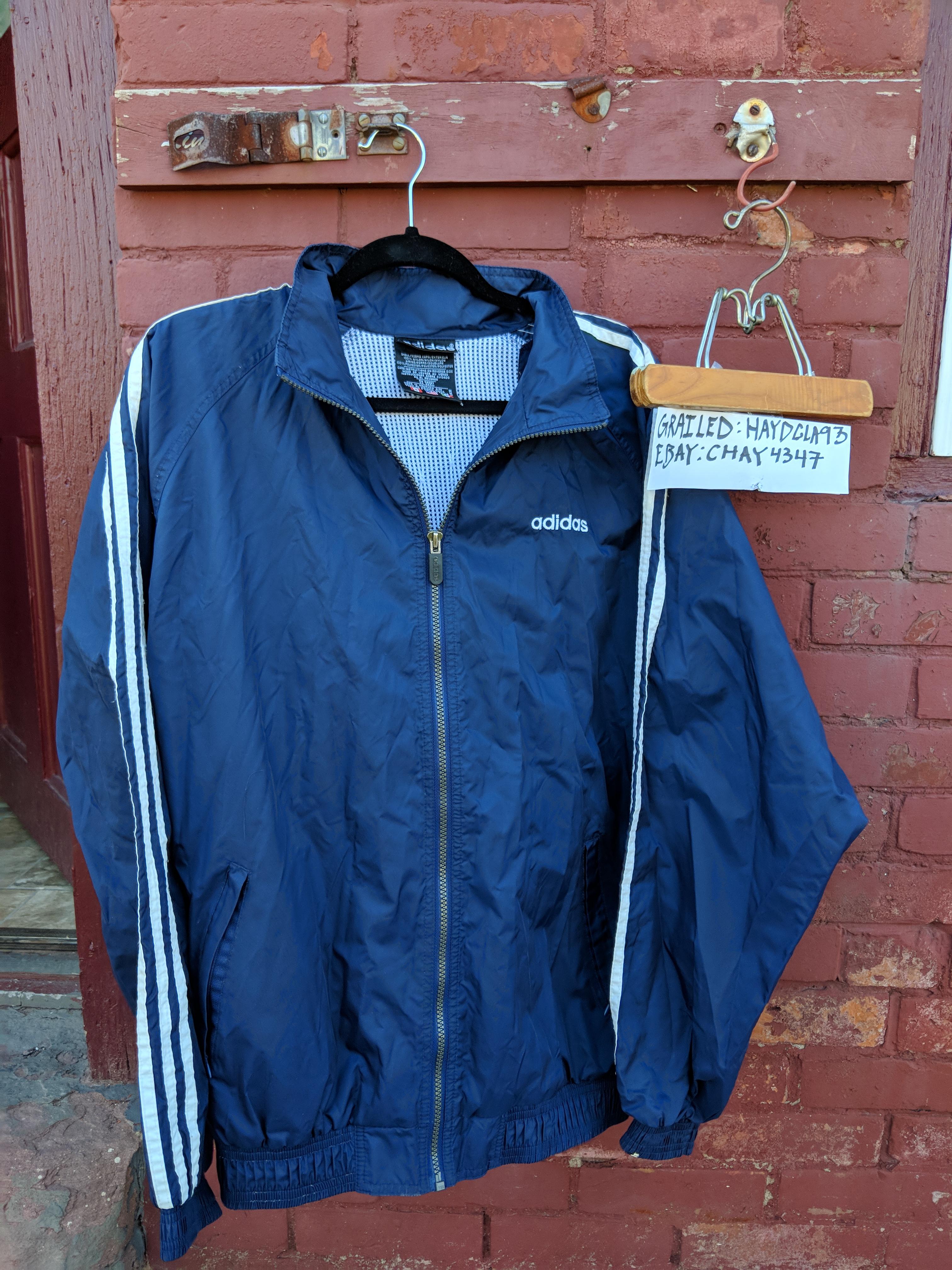 b461afcbb089 Adidas × Vintage. Vintage Adidas Full Zip Hooded Track Jacket