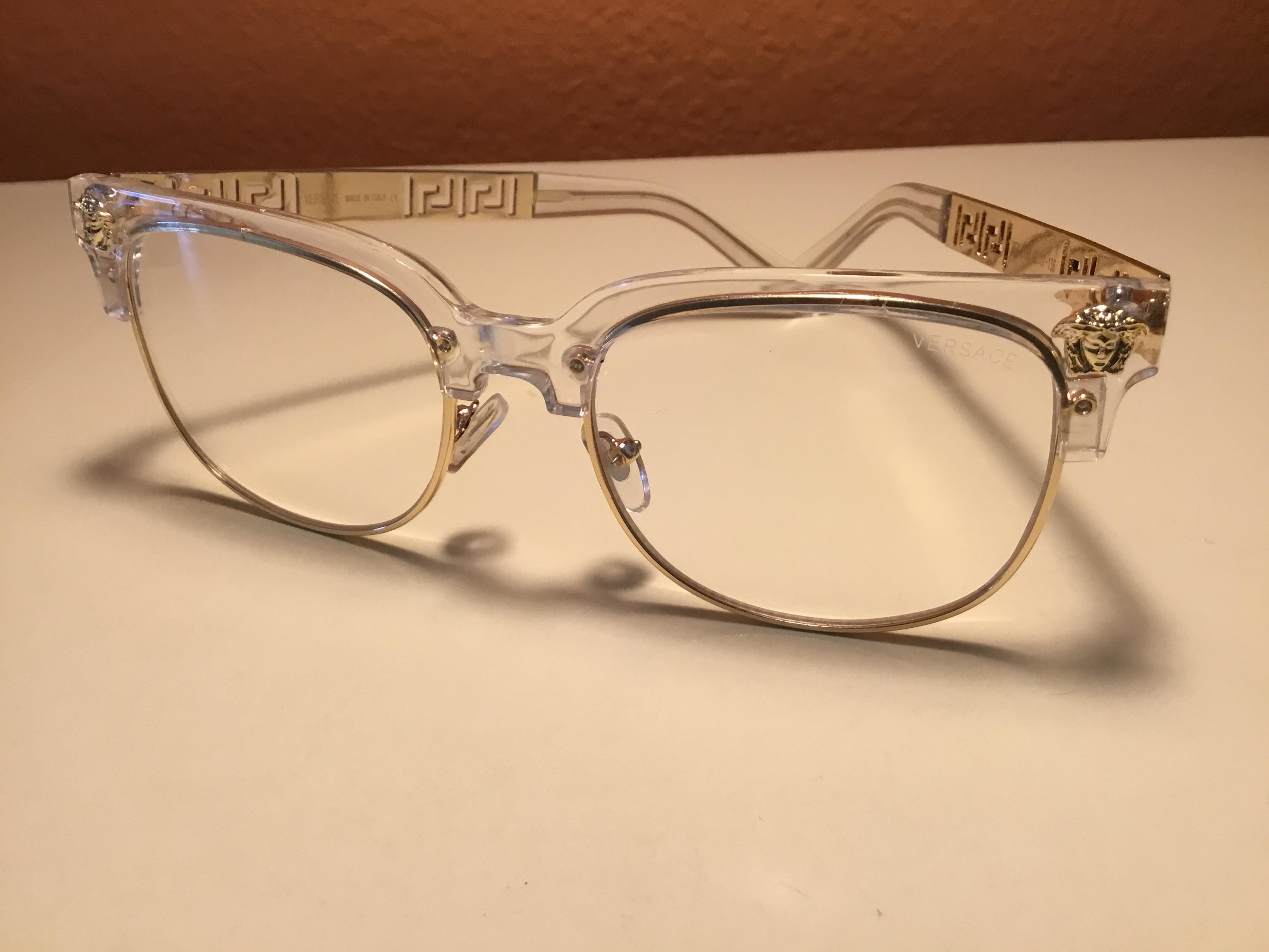 7bb2d52007 Versace ×. Gold   Translucent Versace Glasses (non prescription)