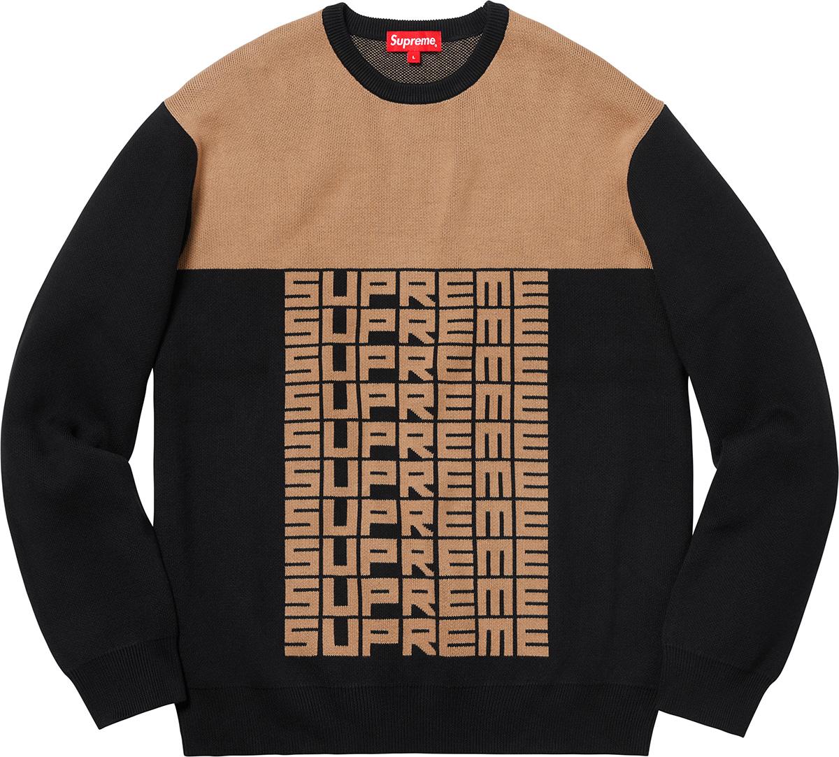6e606b957eff Supreme Supreme Logo Repeat Sweater Black