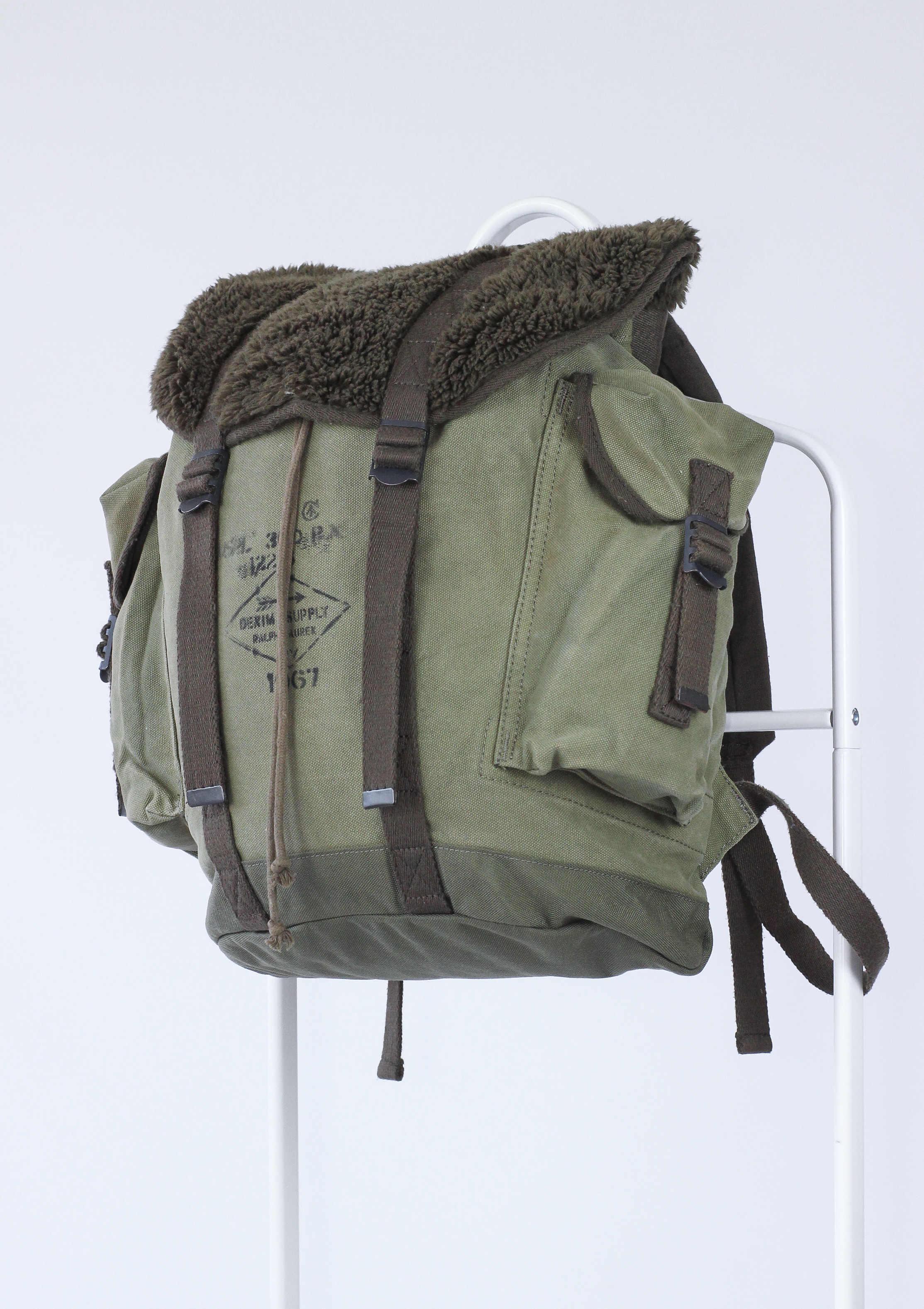 1b383a712157 Polo Ralph Lauren Polo Ralph Lauren Denim Supply Fur Rucksack Tote Backpack  Bag Duffel Army Military Size one size - Bags   Luggage for Sale - Grailed