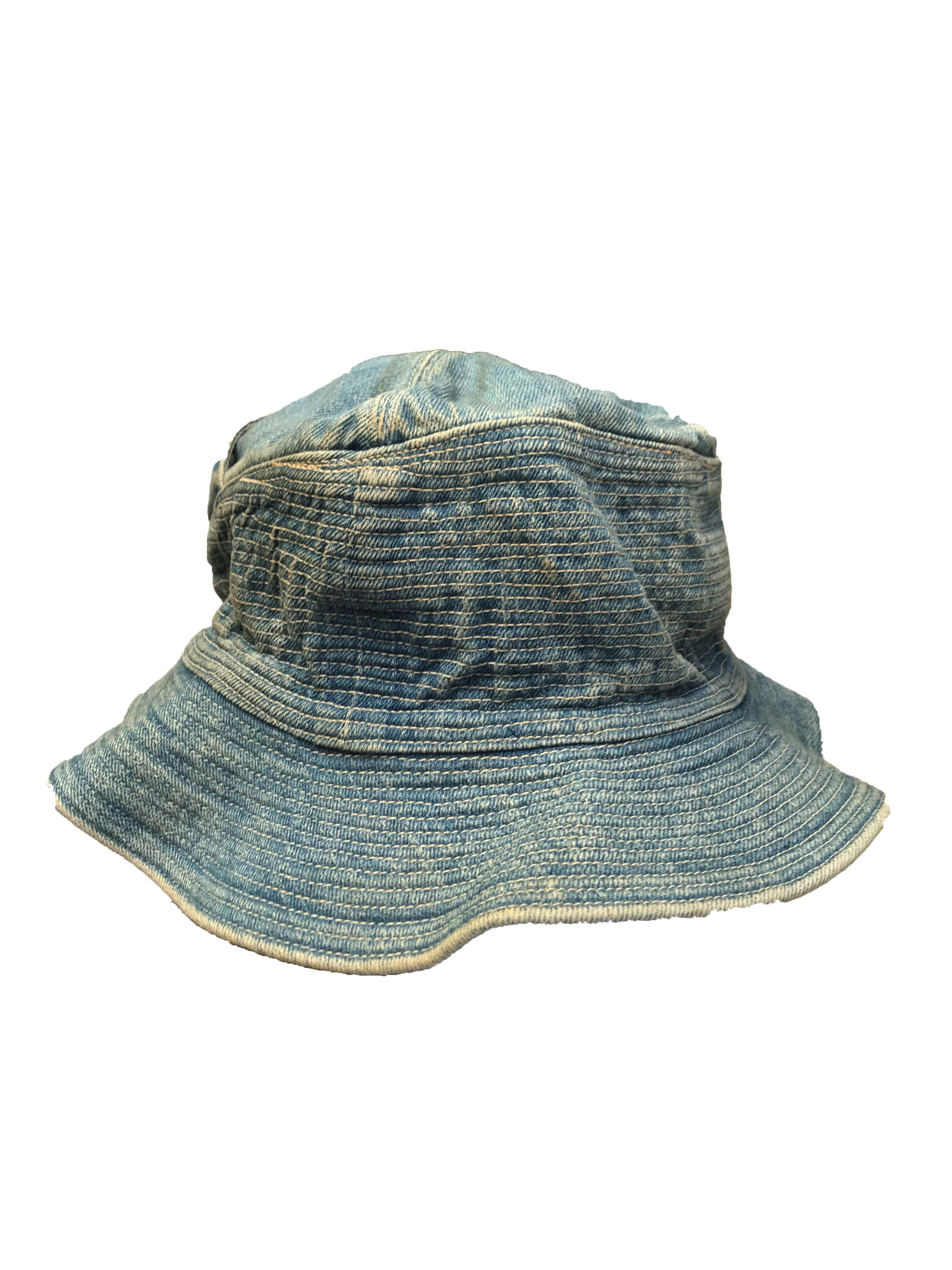 Kapital Denim Old Man and the Sea Bucket Hat Size one size - Hats ... 7029efac7c17