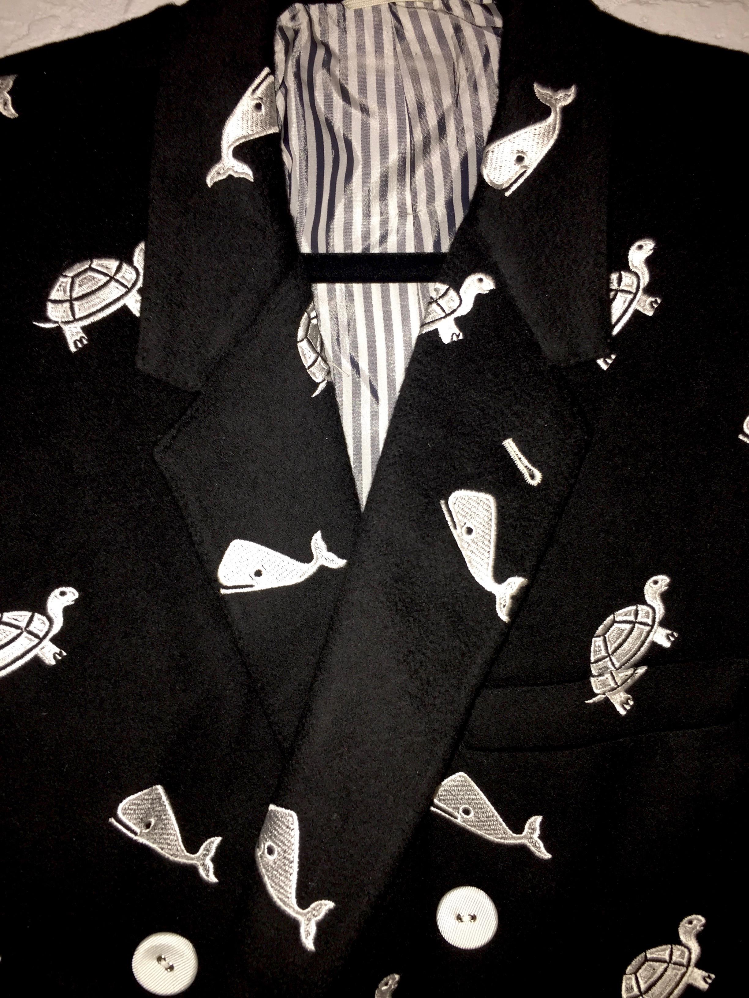 2373eaa0cd Thom Browne Xl - Thom Browne Custom Made Black Cashmere Whale And ...
