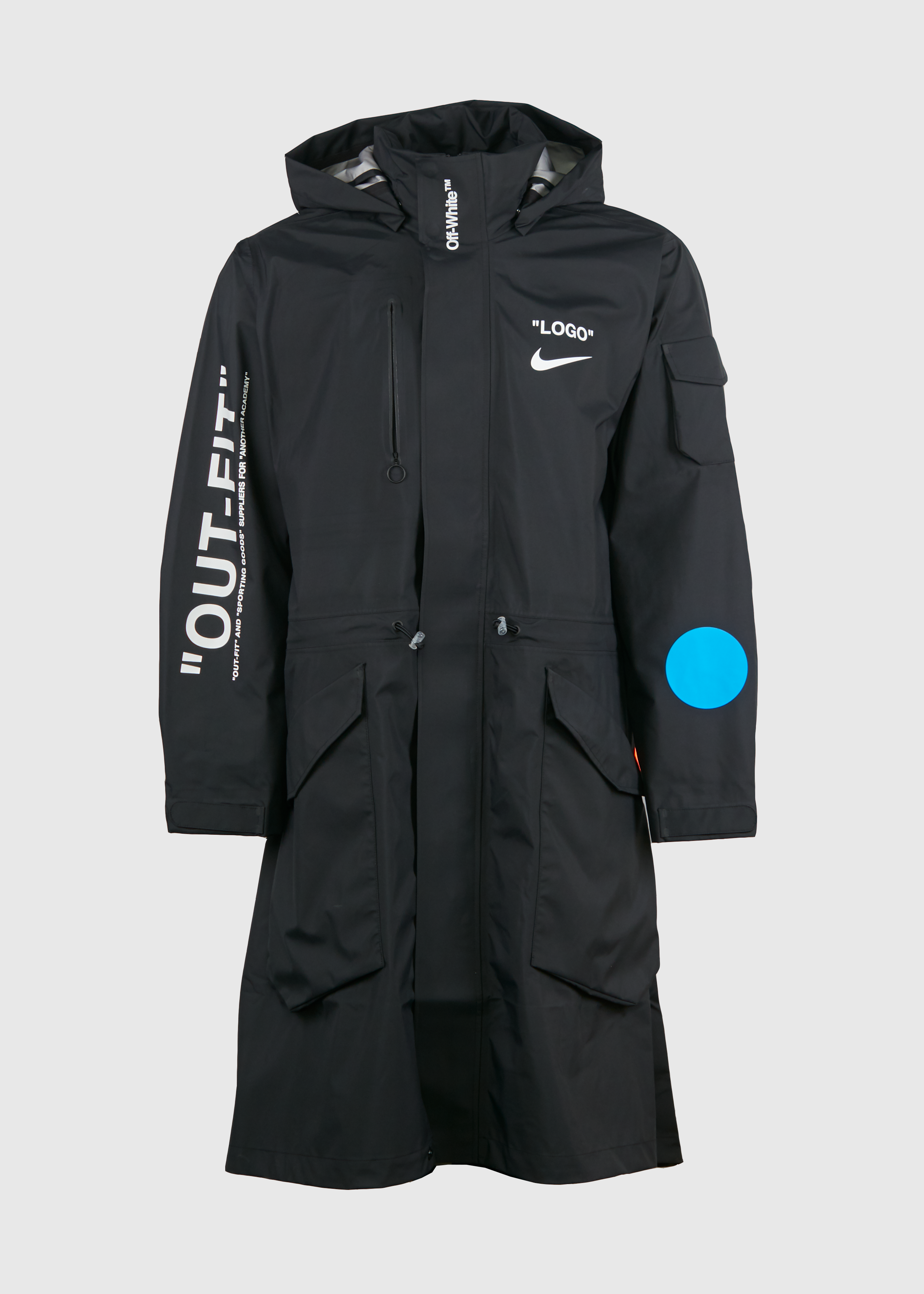 3d4835053ba6 Nike × Off-White. Nike Lab Off-White (SMALL size) Football Mercurial NRG X  Black Parka Jacket Coat