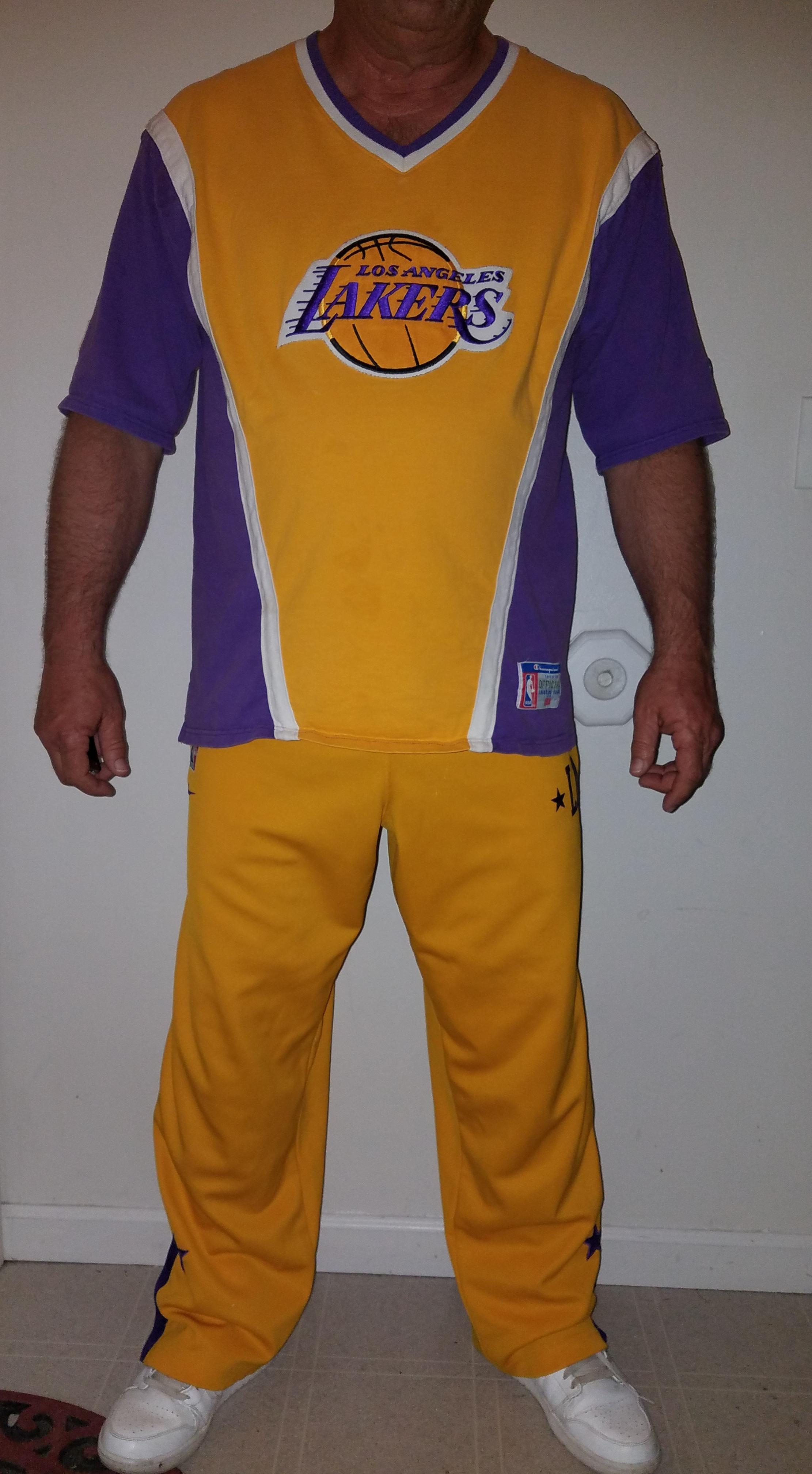 37589422330 Nike × Vintage × Champion ×. Vintage Lakers Champion NBA Shirt   Nike Warm  Up ...