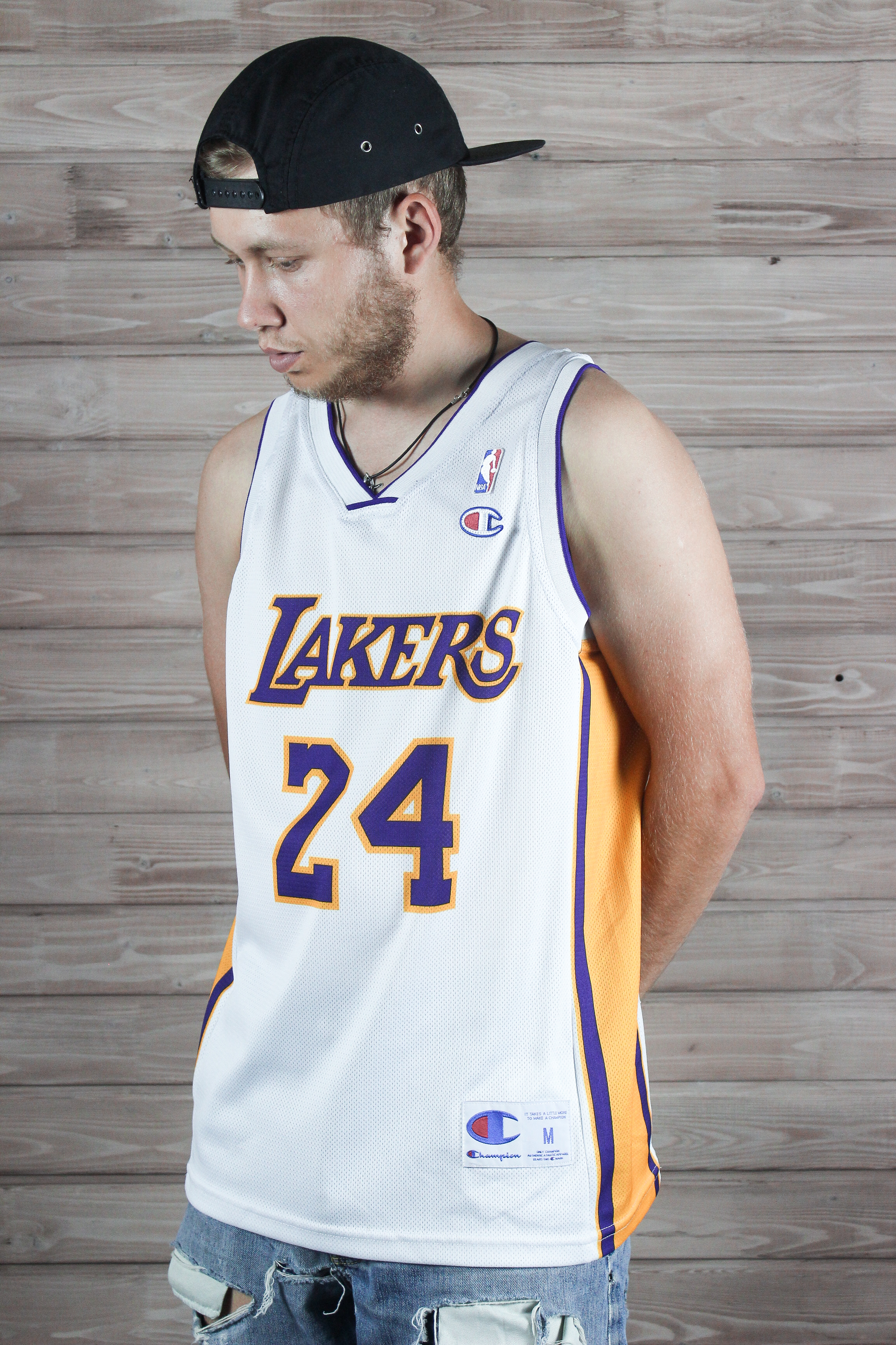 eeb73049ec1 Champion Vintage Mens Champion 24 Lakers Kobe Bryant Jersey | Grailed
