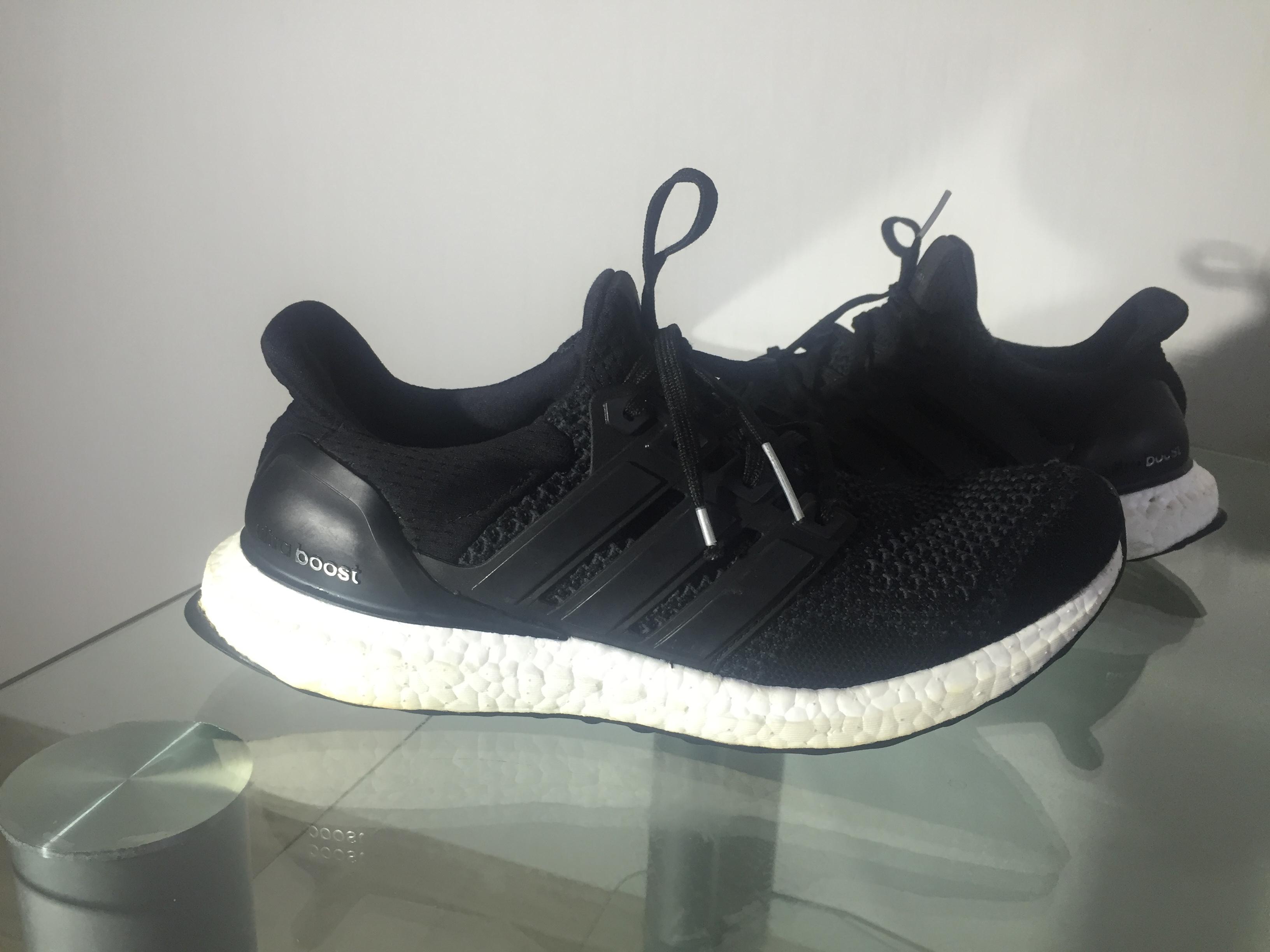 online store c5172 ea742 Ultra Boost S77417 Black Running Sneaker Kanye West