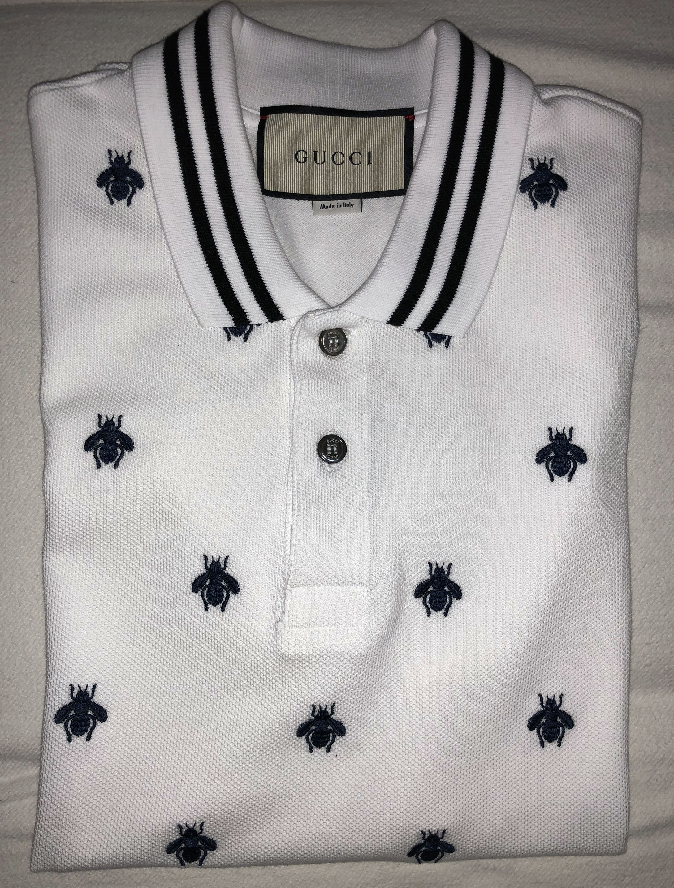 edfd1414 Gucci Gucci cotton polo with bees and stars Size s - Polos for Sale -  Grailed