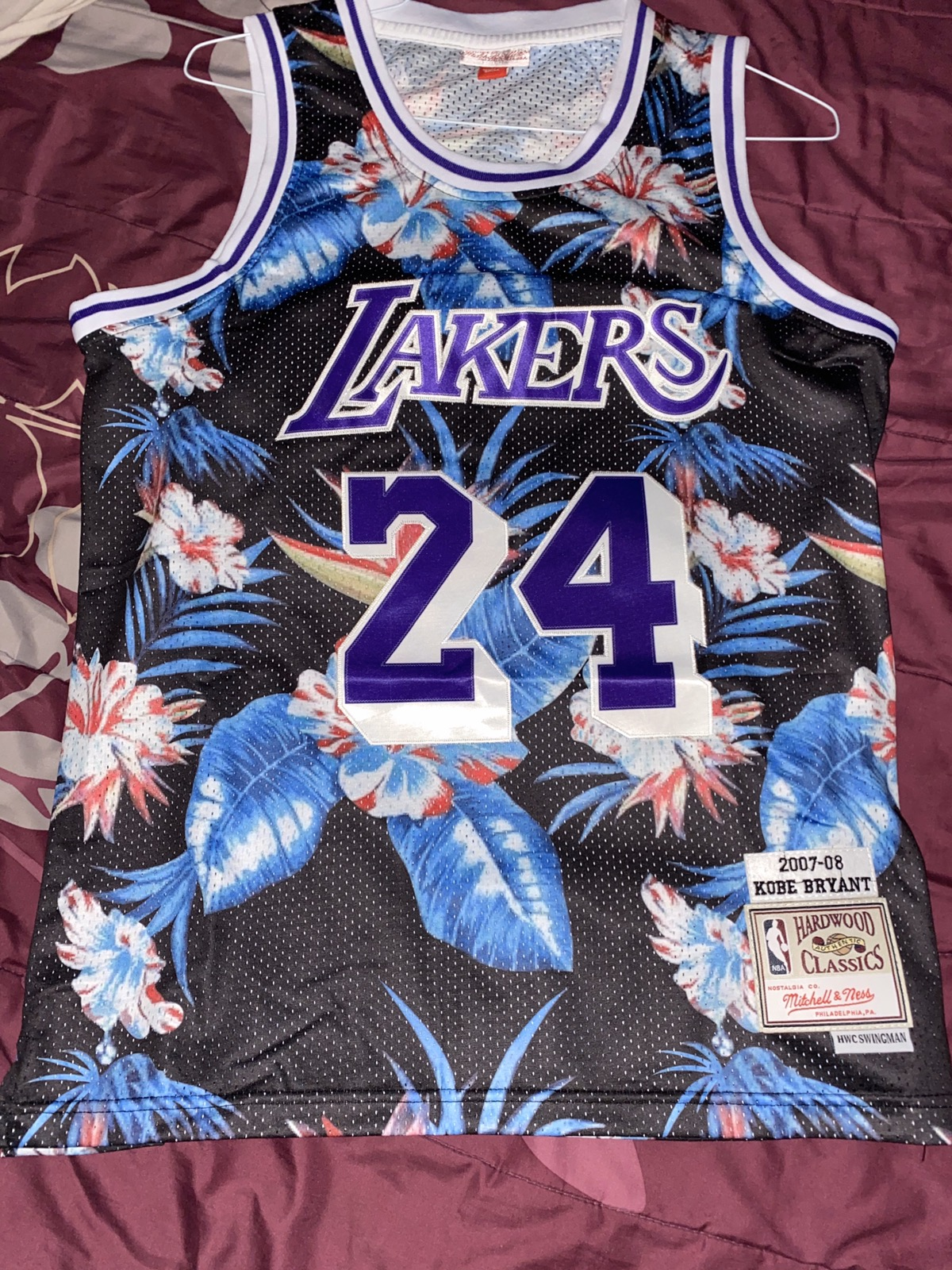 Mitchell & Ness Kobe Bryant Floral Jersey #24