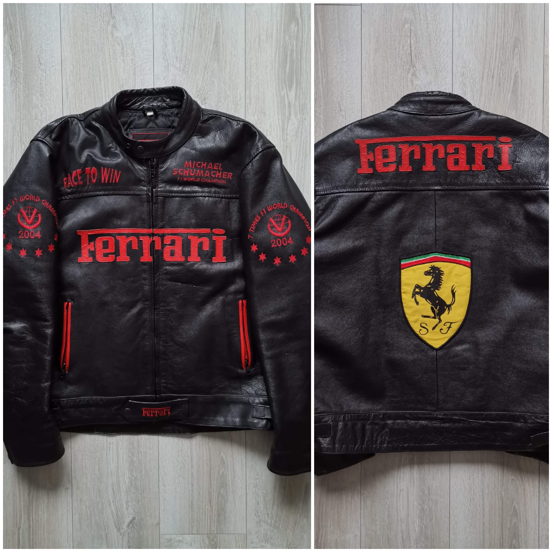 Vintage Ferrari Official License Leather Jacket Xl Vintage Rare Grailed