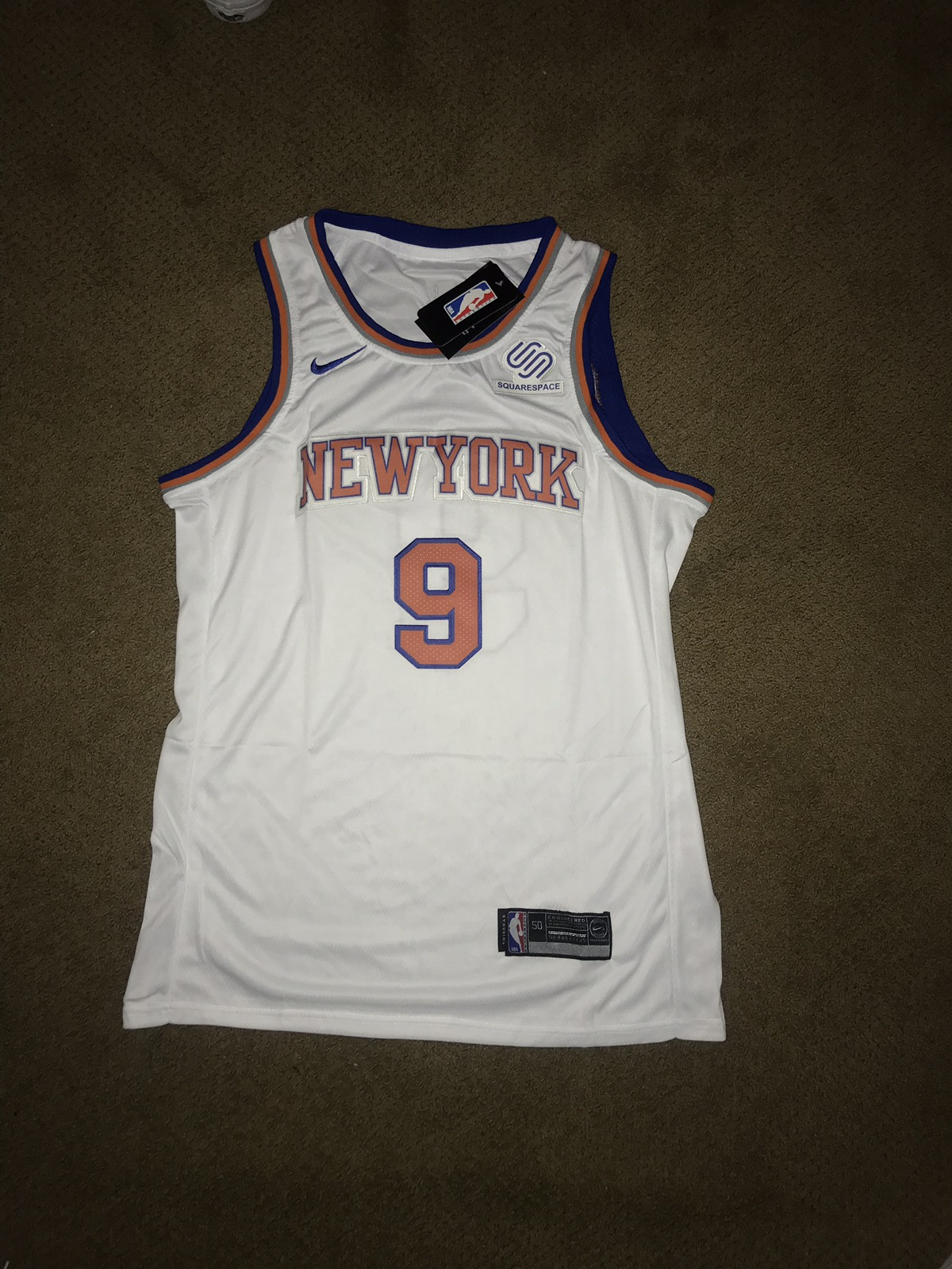 promo code da9de 376fc RJ Barrett Duke Nike New York Knicks NBA Supreme Jersey