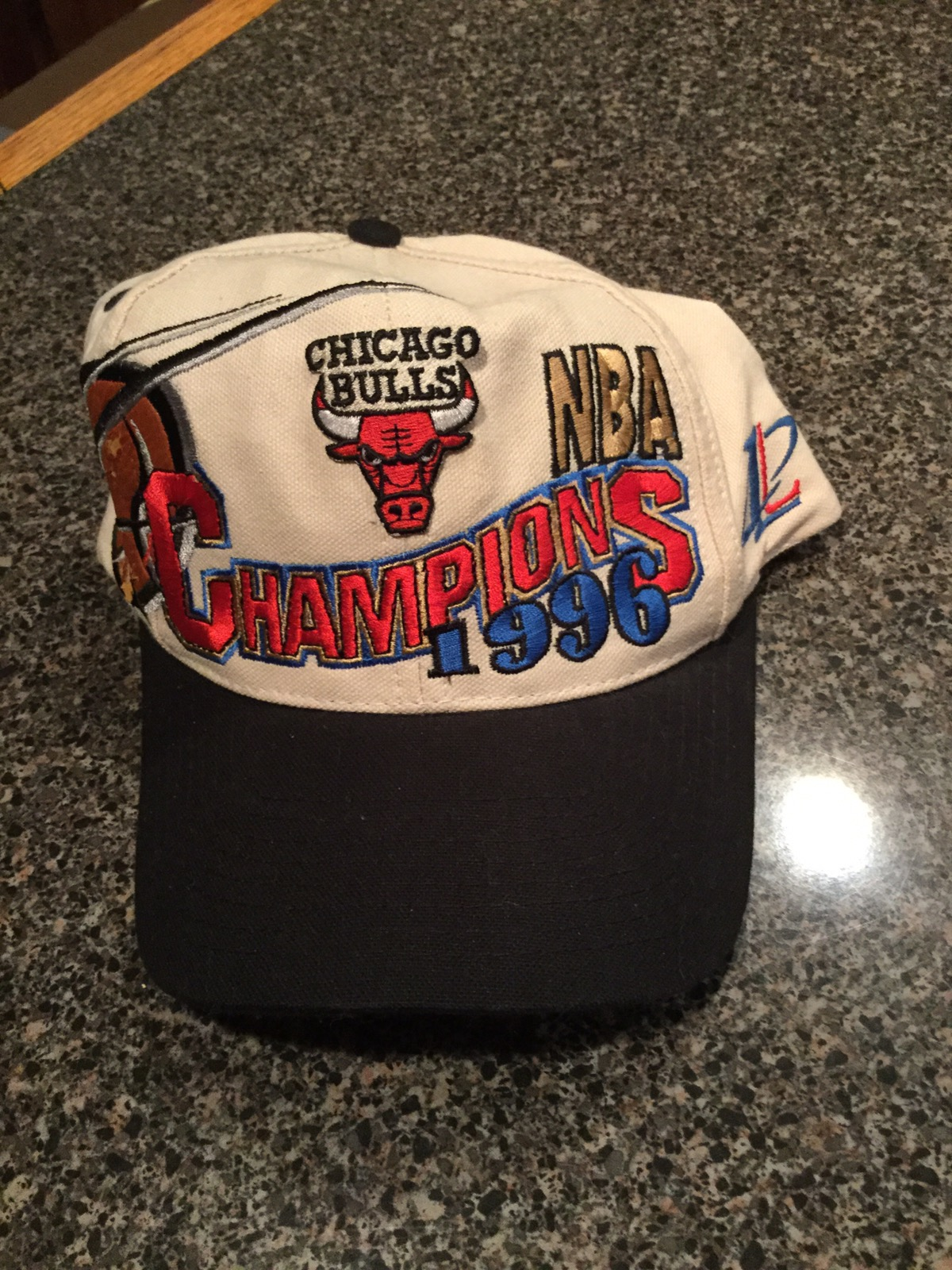 9514a236f21 Logo Athletic Vintage Logo Athletic Chicago Bulls 1996 NBA Champions Hat  Size one size - Hats for Sale - Grailed