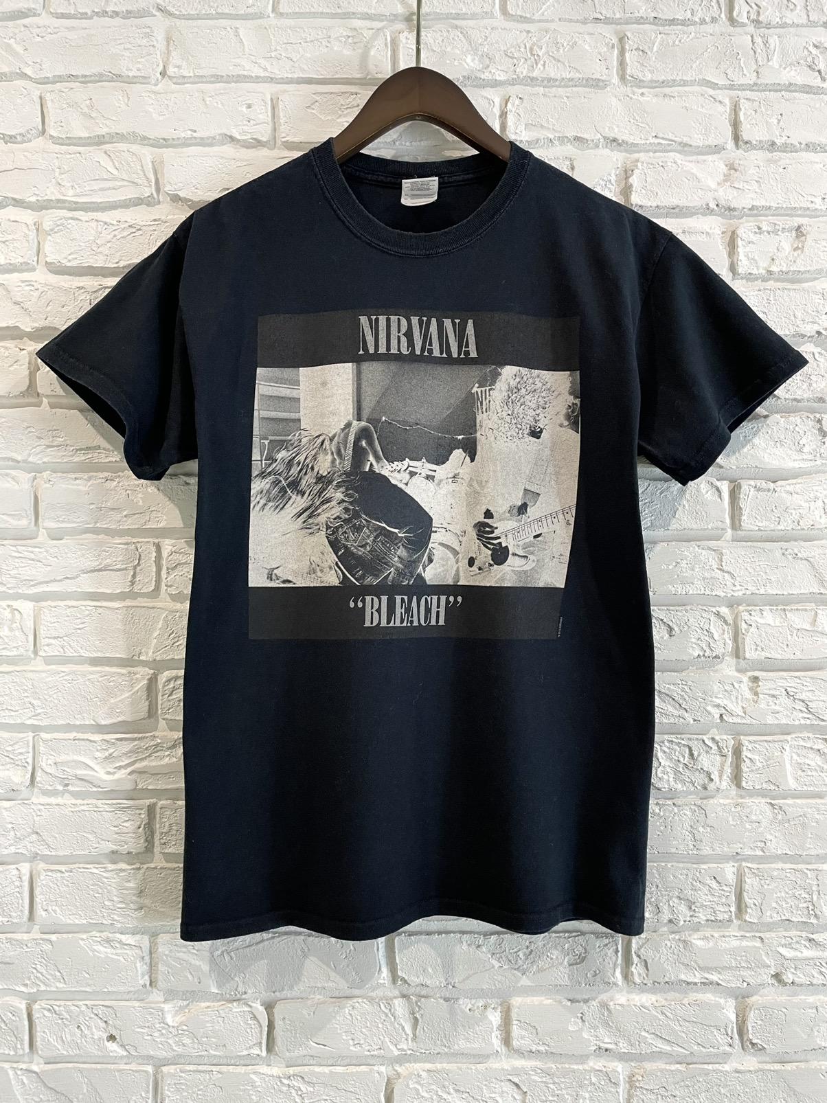 Nirvana Vintage Bleachie Tee in Hot Pink Kurt Cobain