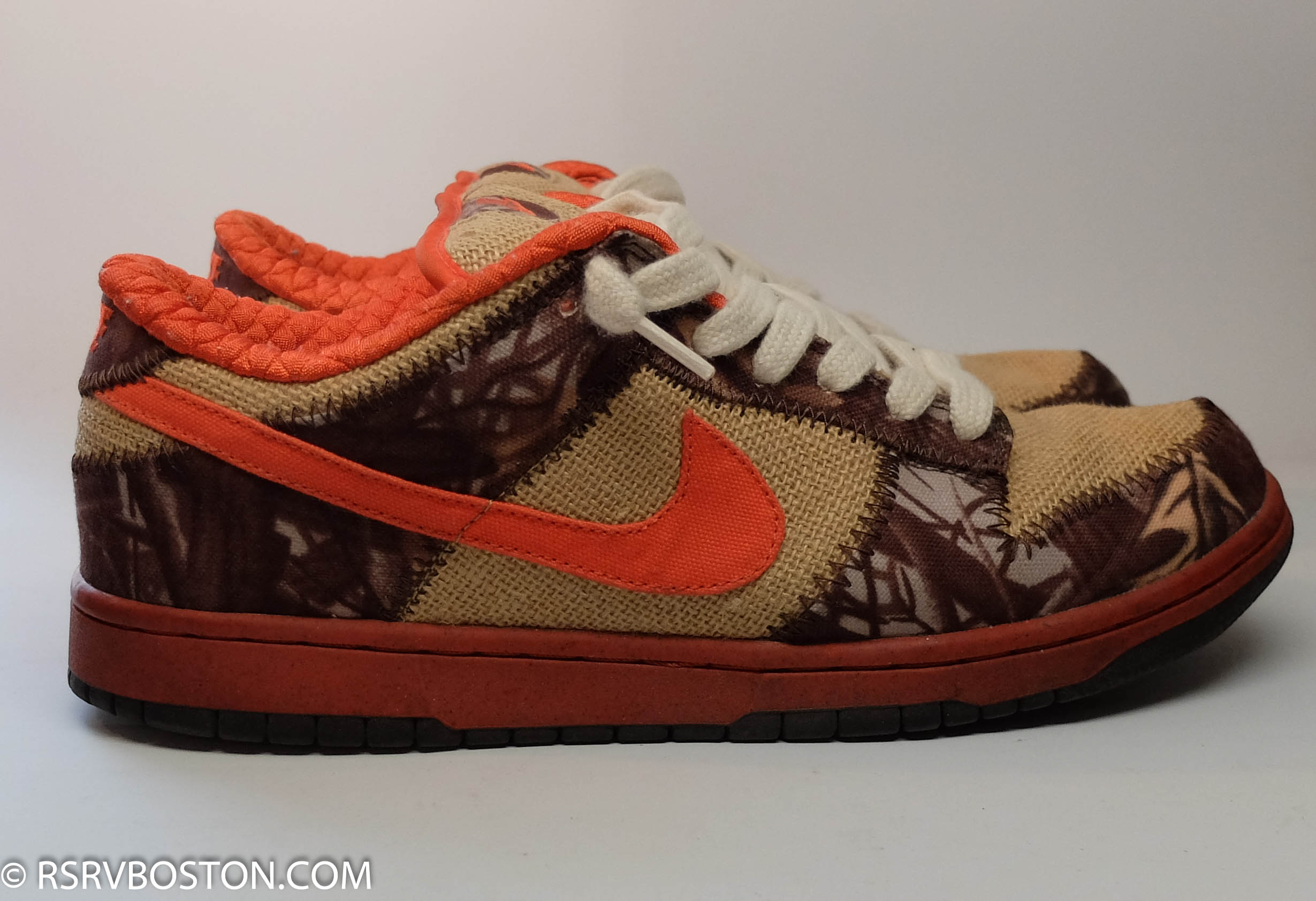 finest selection 41f47 ba78c Nike Dunk Low Pro SB Natural Burlap Orange Blaze Reese Forbes Hunter Size  13 - Low-Top Sneakers for Sale - Grailed