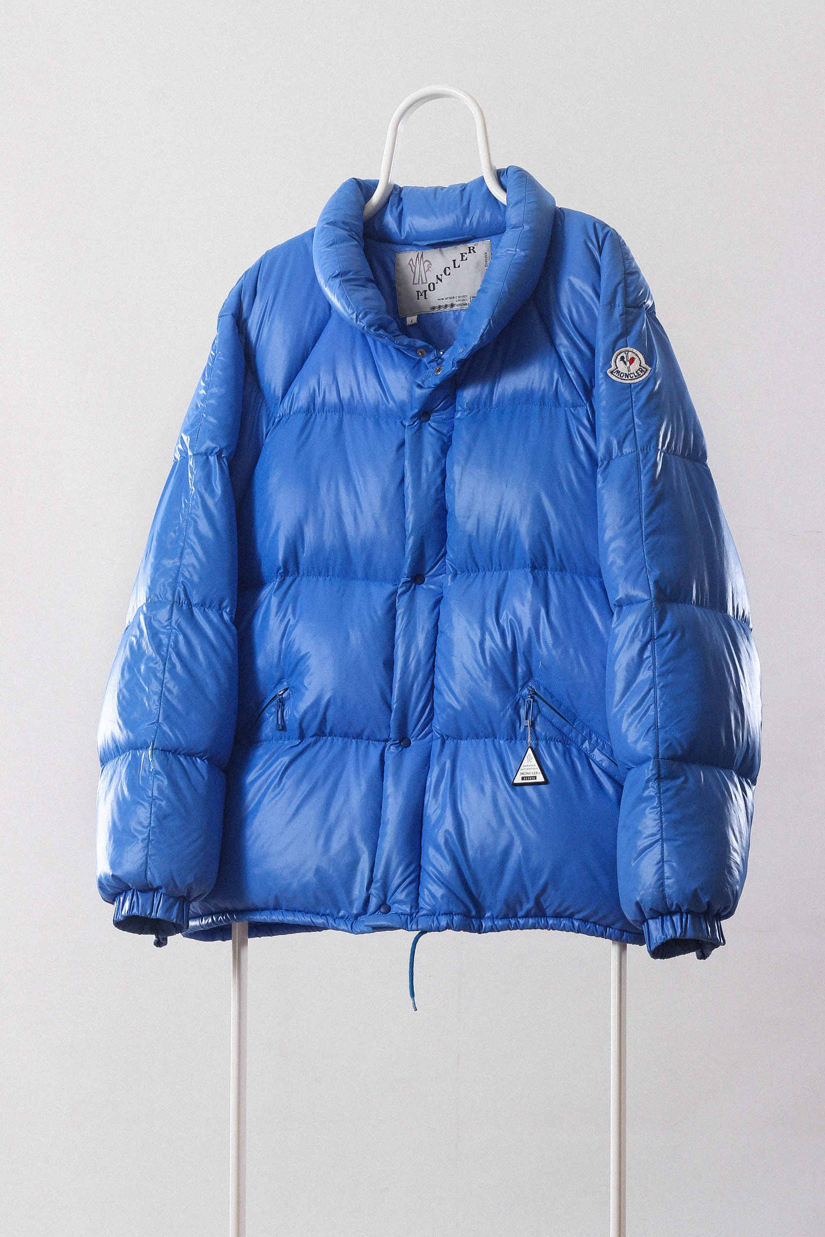 da318ce43 80's Vintage Mens MONCLER Grenoble Puffa Puffer Down Padded Winter Jacket  Coat Blue Neon France Paris