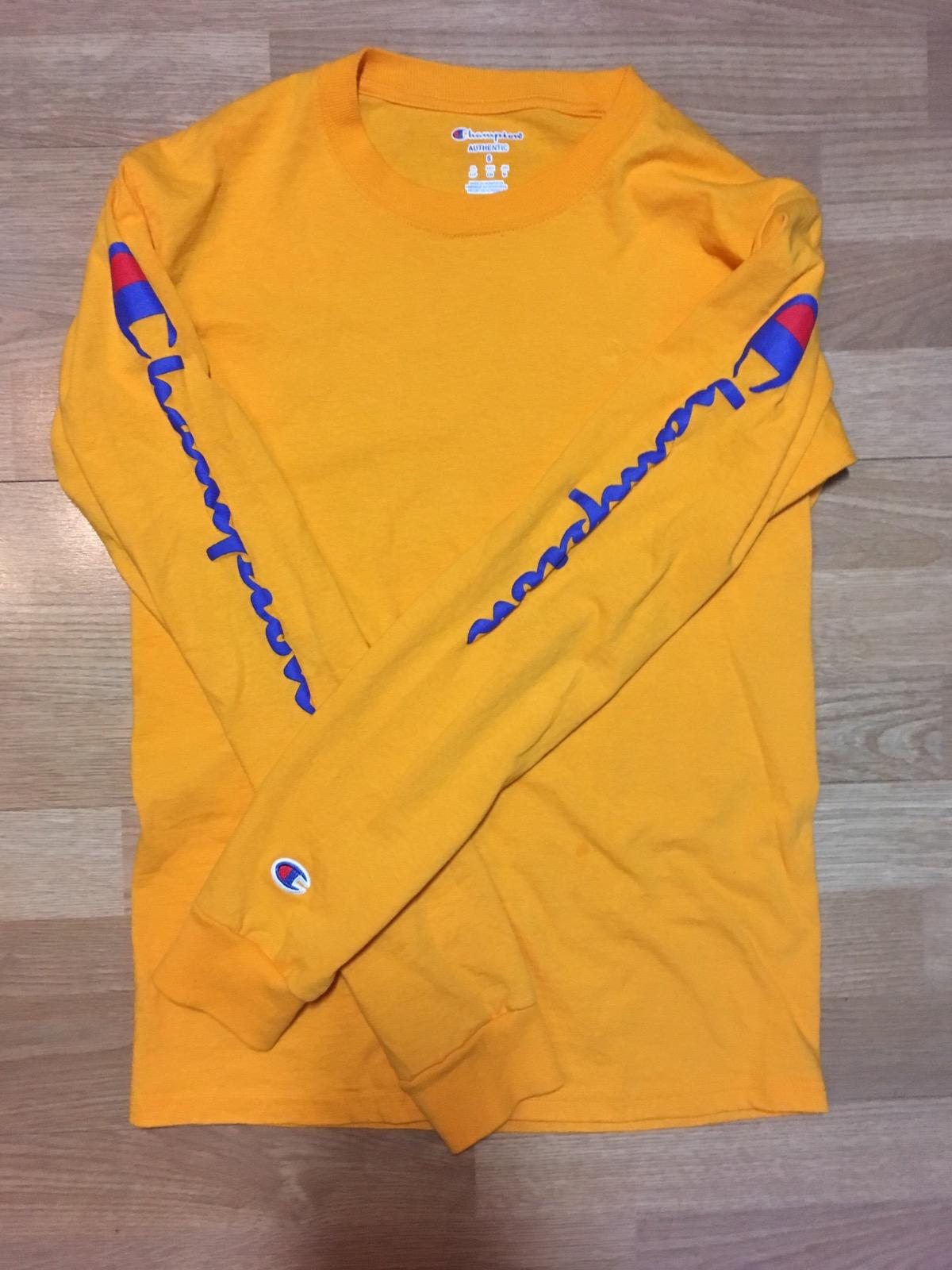 7b85ee42 Yellow Champion Sweatshirt Pacsun