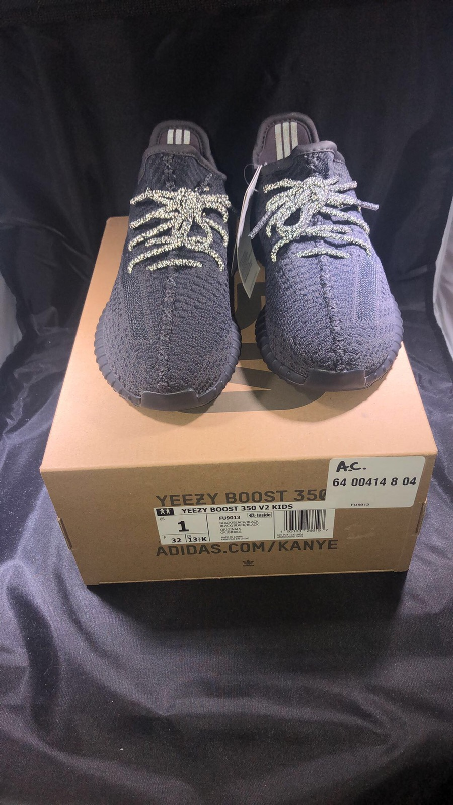 New Infant Adidas Yeezy Boost 350 Pirate Black BB5355 TODDLER DEADSTOCK