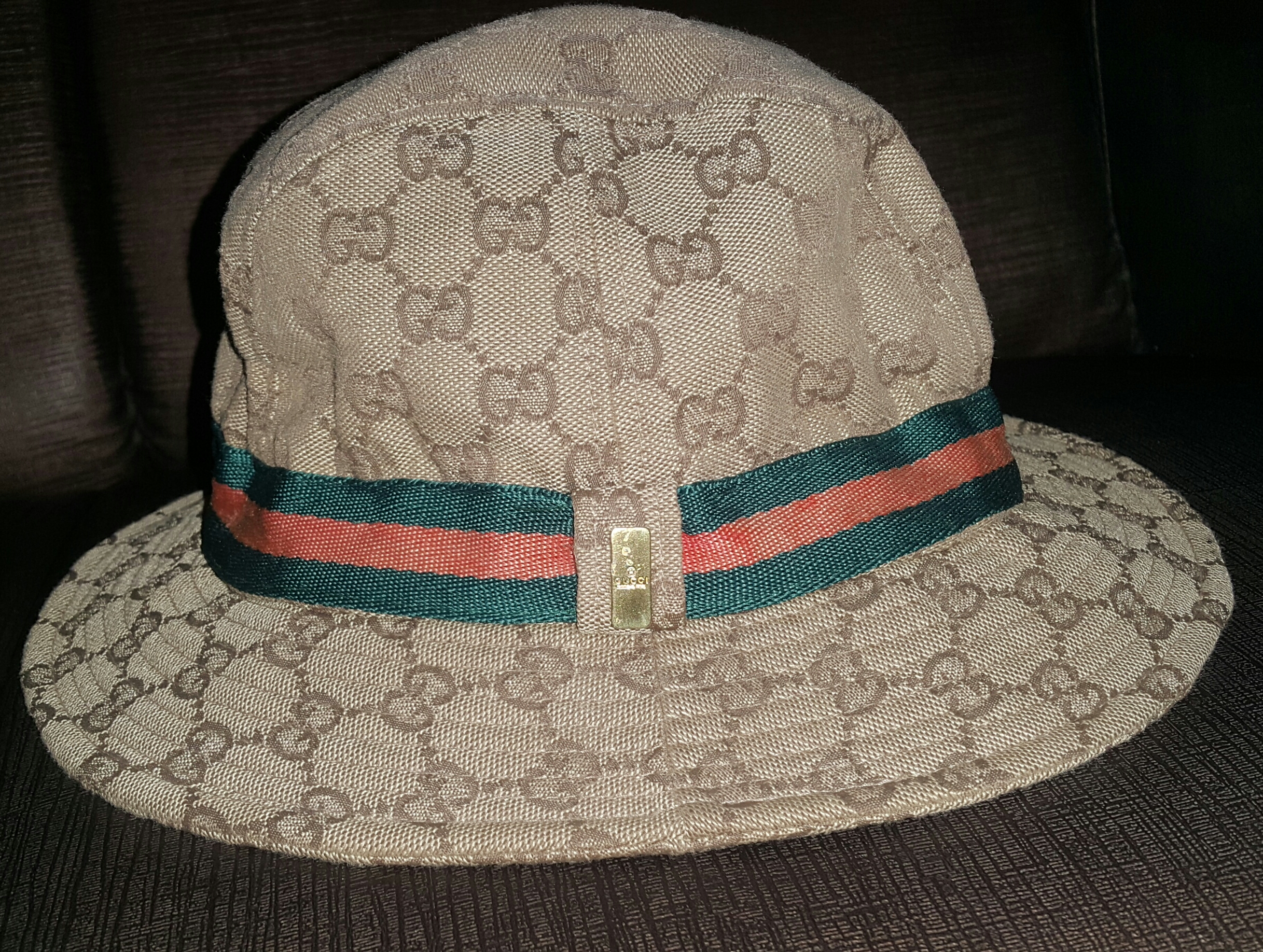 0aef683e50a Gucci Authentic Vintage GUCCI Beige GG Monogram Logo Bucket Hat Size one  size - Hats for Sale - Grailed